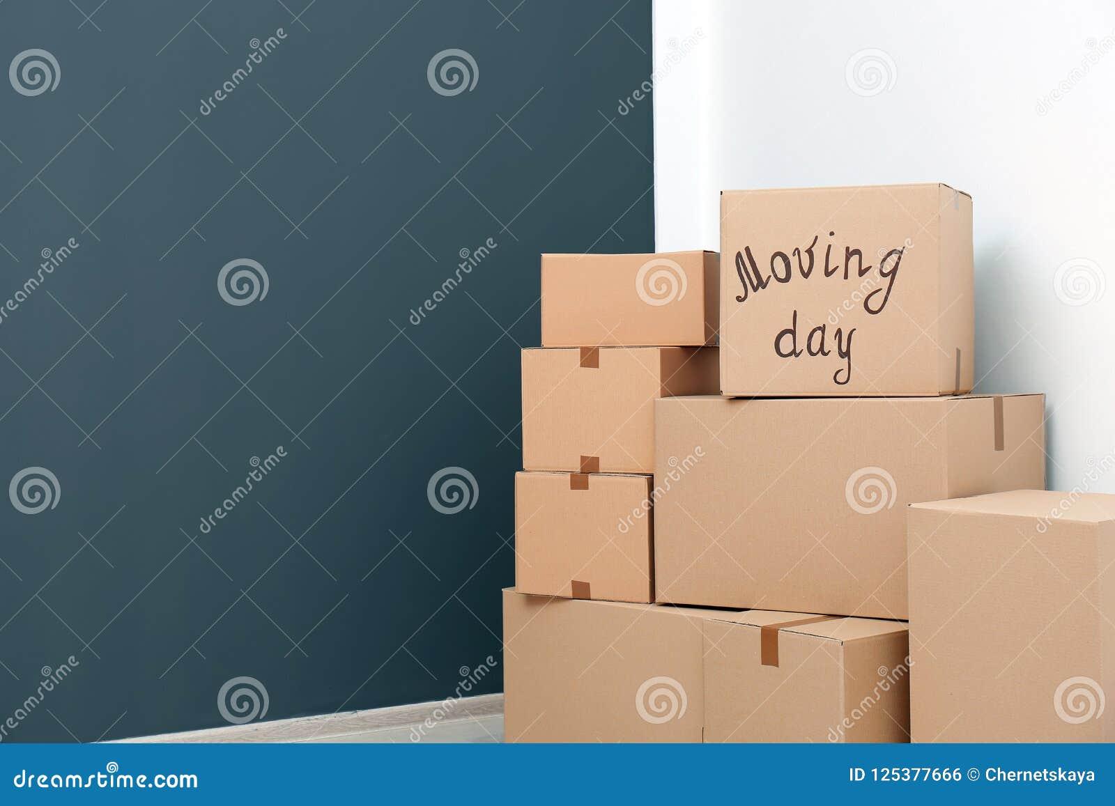 Pila de cajas móviles