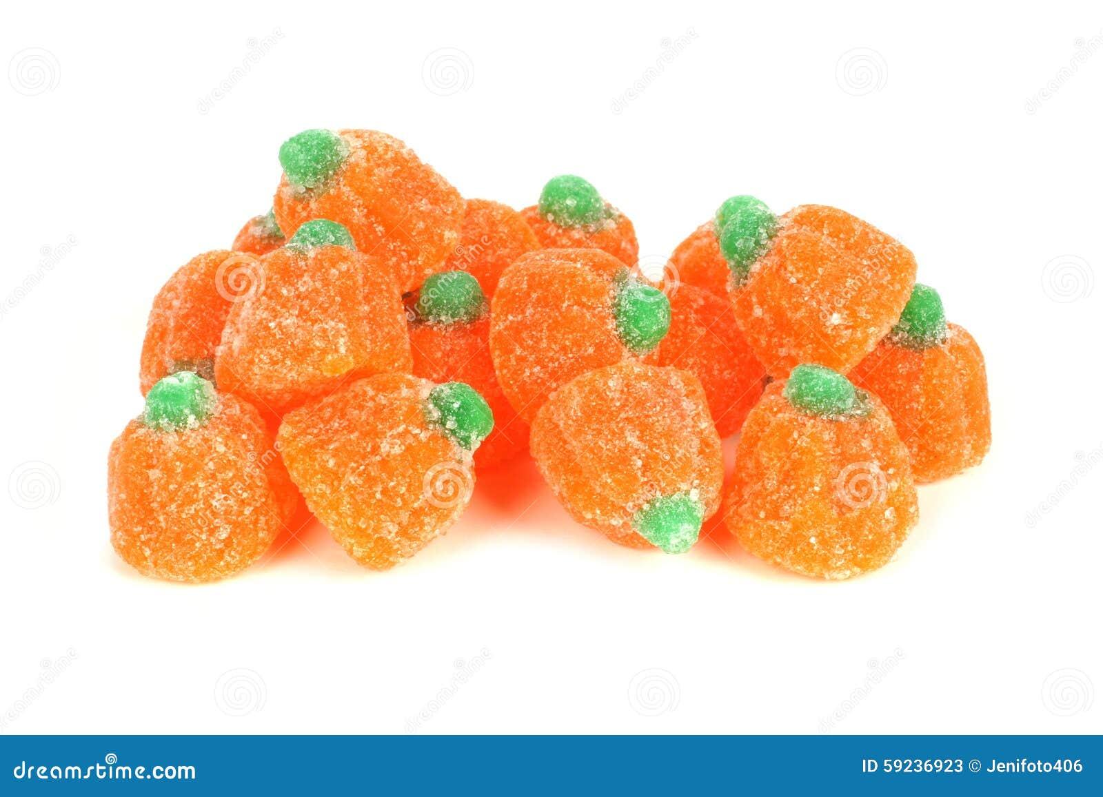 Download Pila De Caramelos Gomosos De La Calabaza De Halloween Sobre Blanco Imagen de archivo - Imagen de anaranjado, celebración: 59236923
