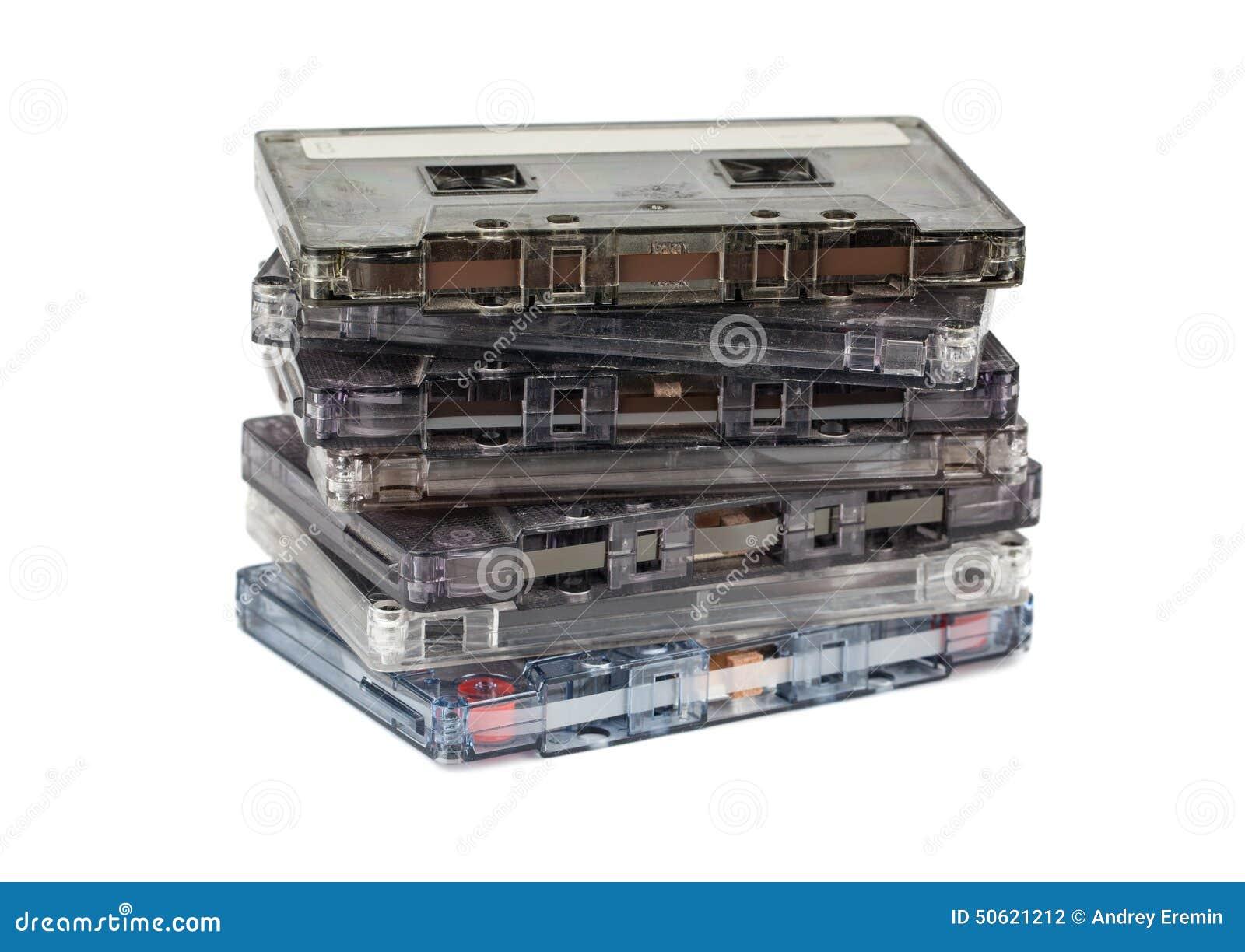 Pila de cassettes audios