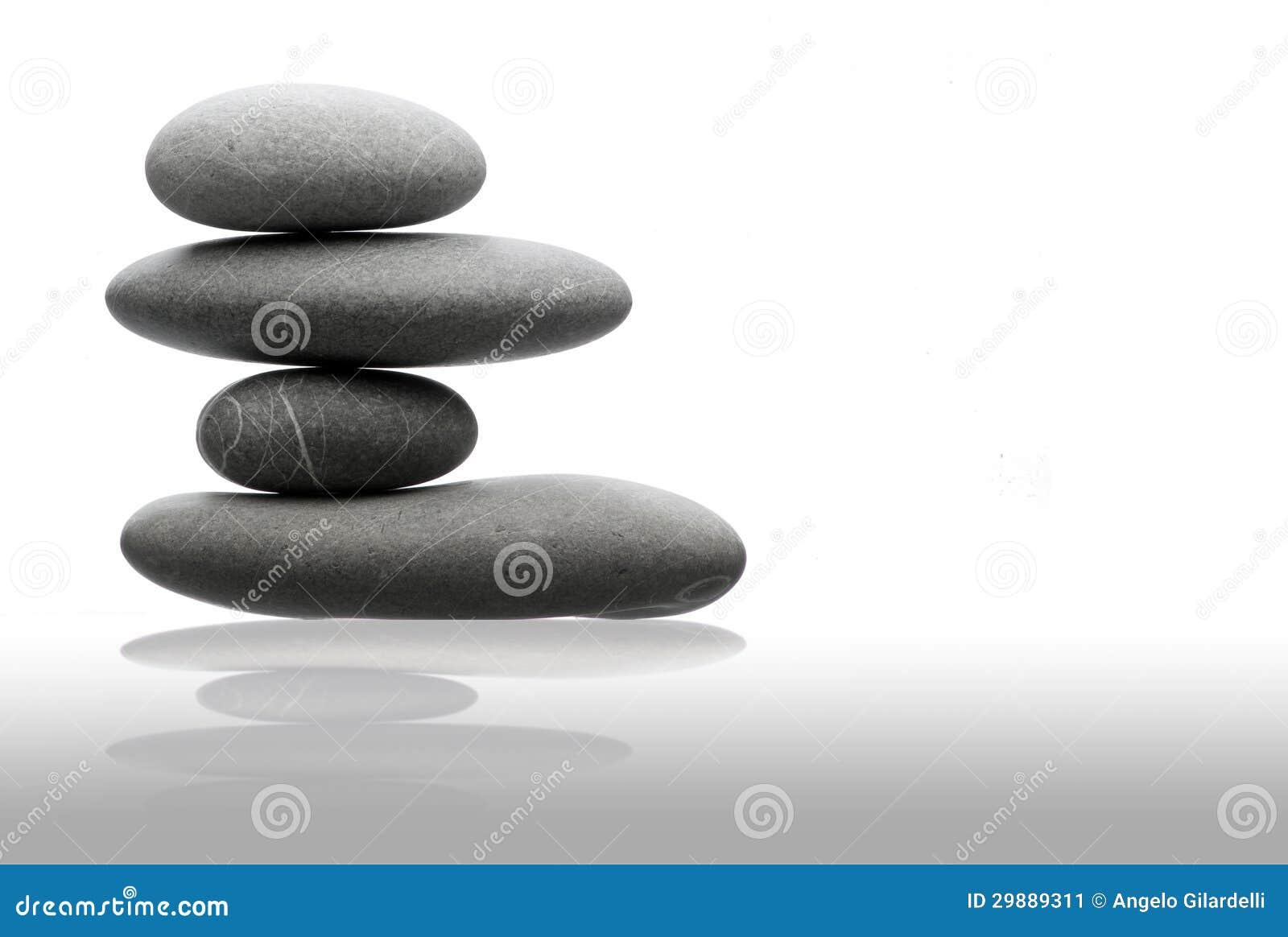 Pila De Cuatro Piedras Equilibrada En Estilo Del Zen Decoration Aquarium
