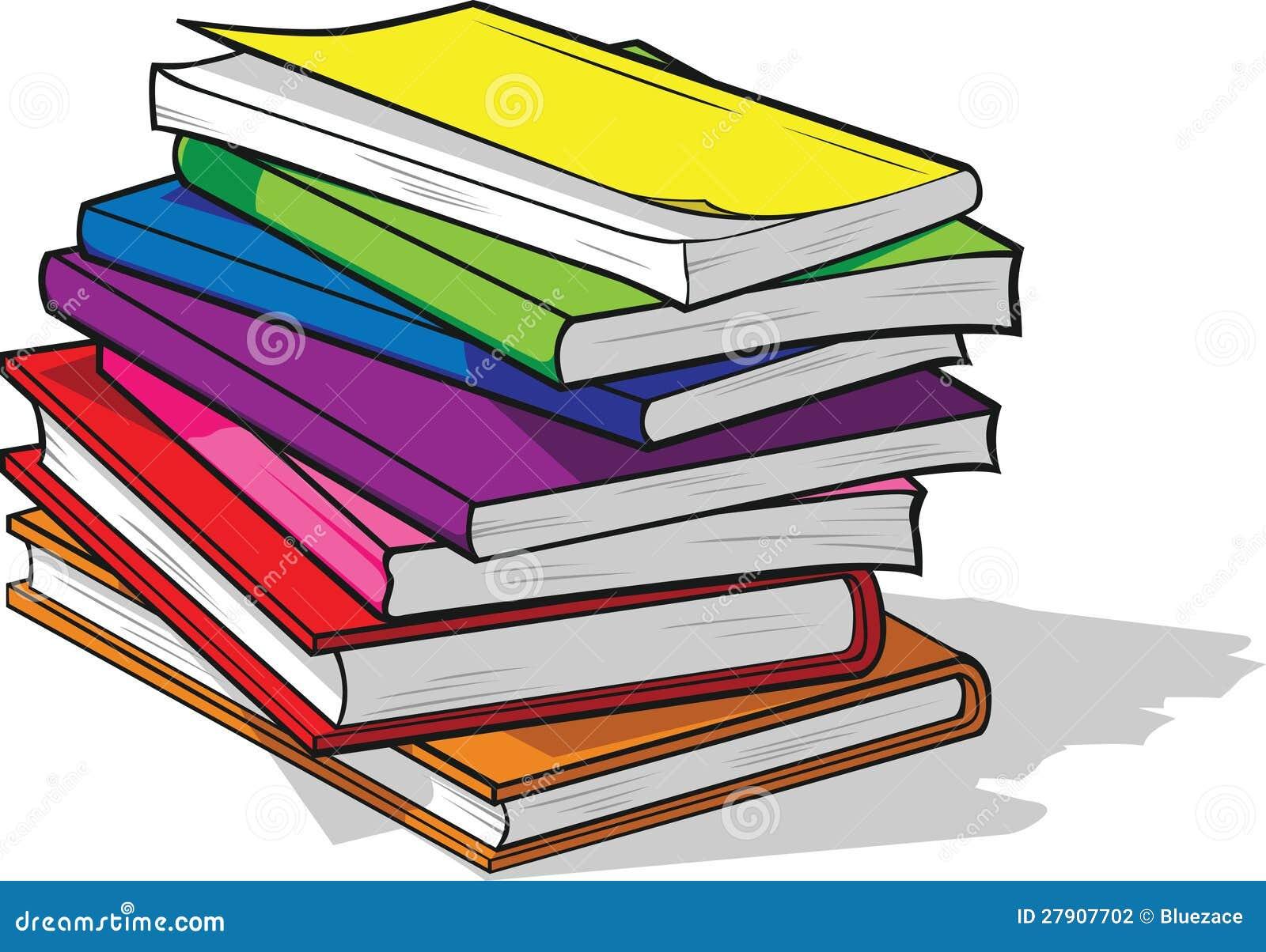 Pila de libros coloridos ilustración del vector. Ilustración de ...