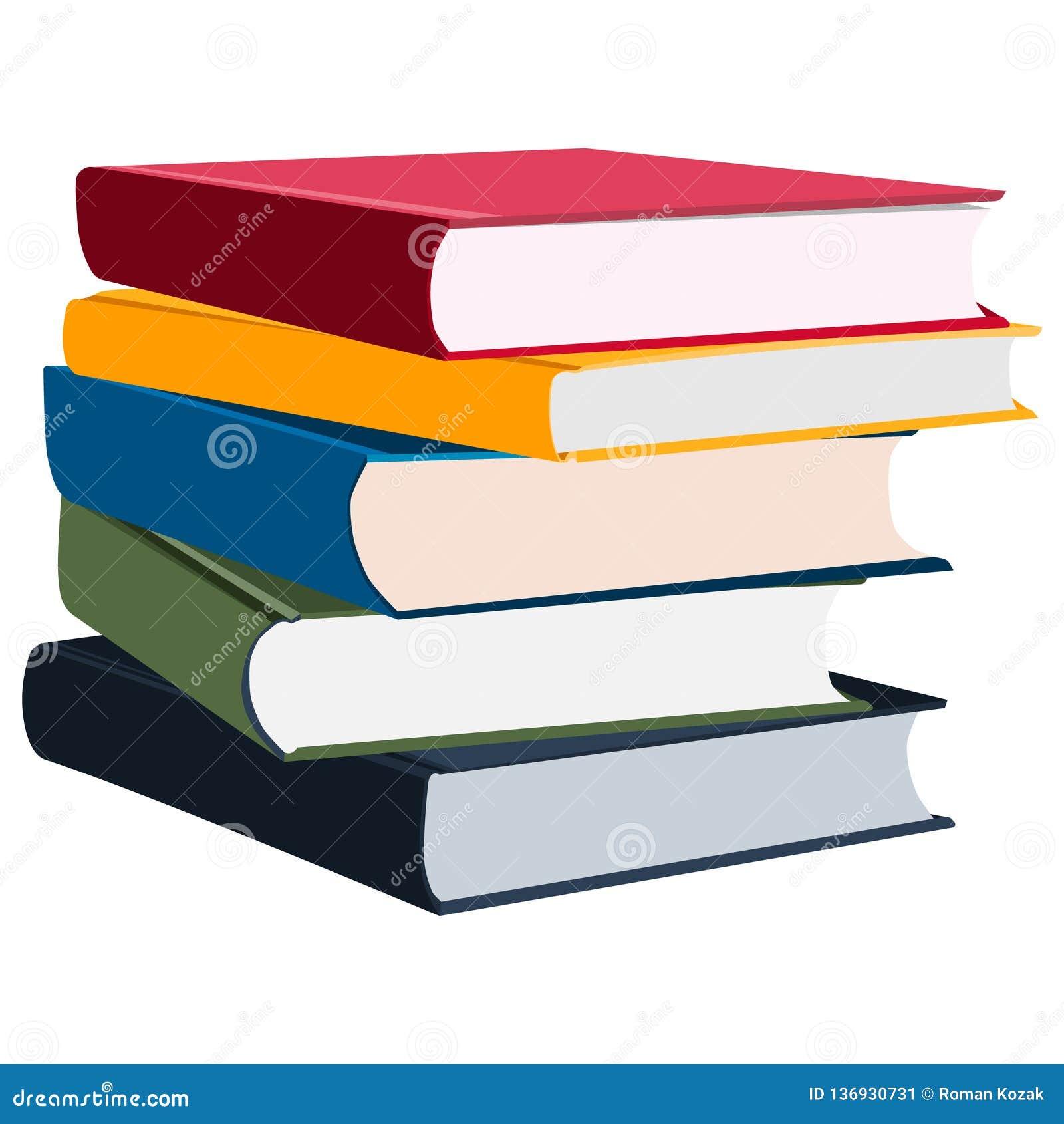 Pila de libros/de diarios coloreados multi/de planificadores diarios