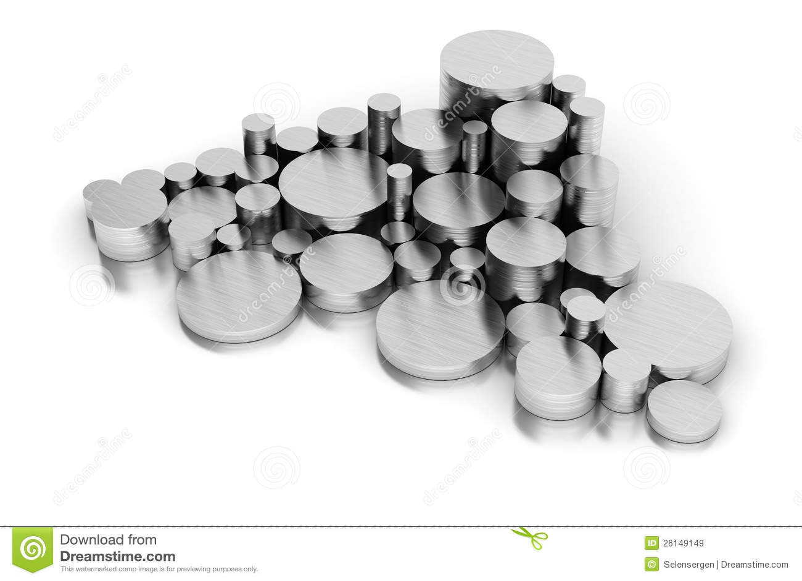 Pila de los tubos de acero