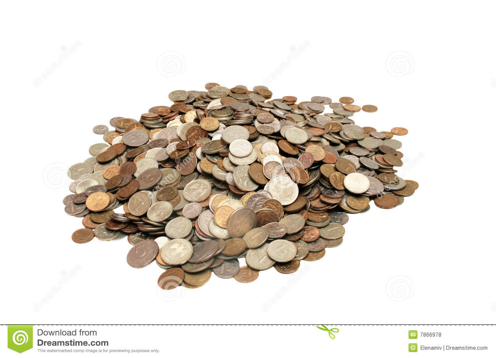 Pila de monedas.