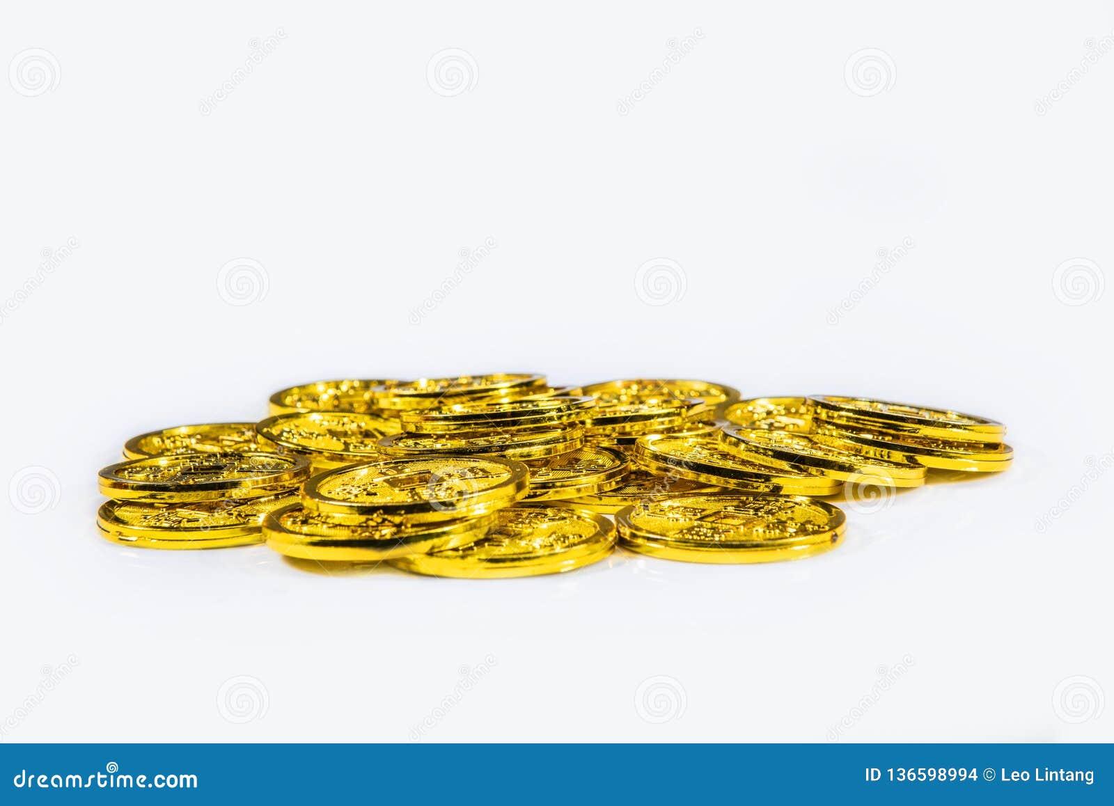 Pila de monedas chinas