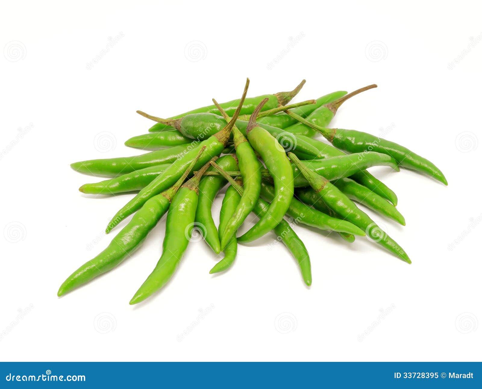 Pila de pimientas de chile verdes
