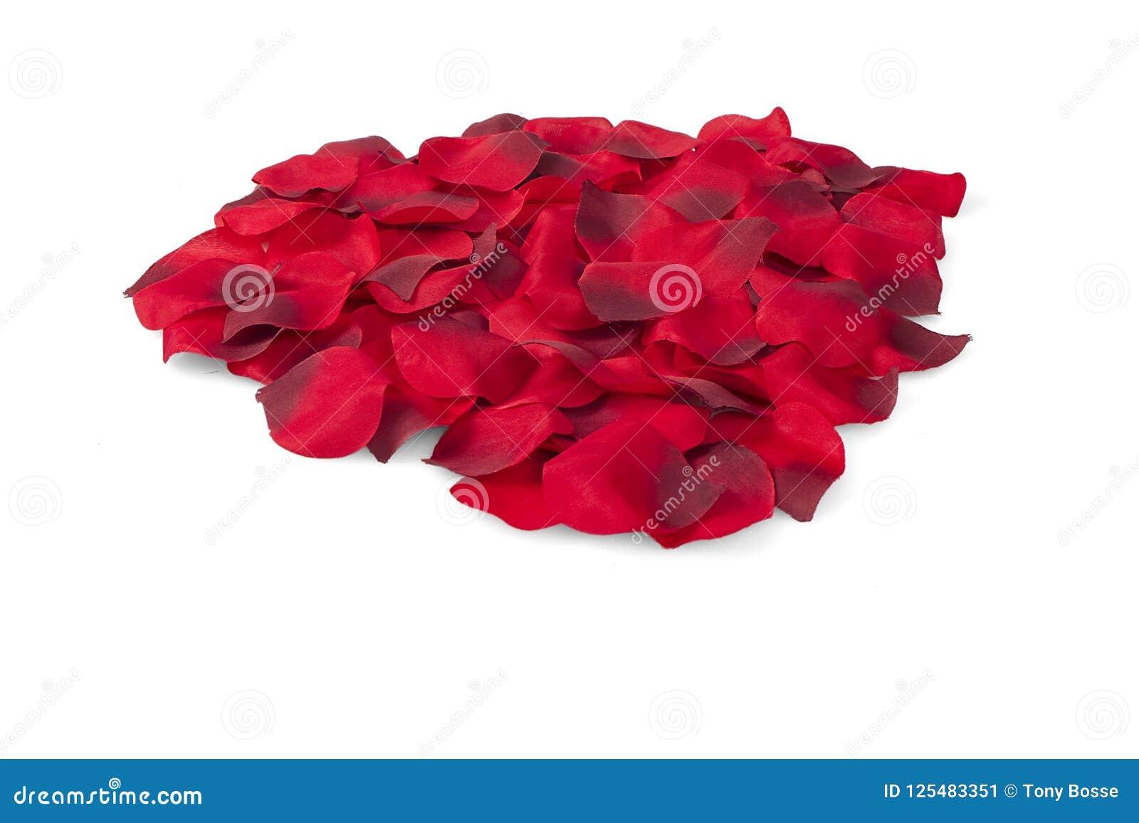 Pila de Rose Petals de seda roja