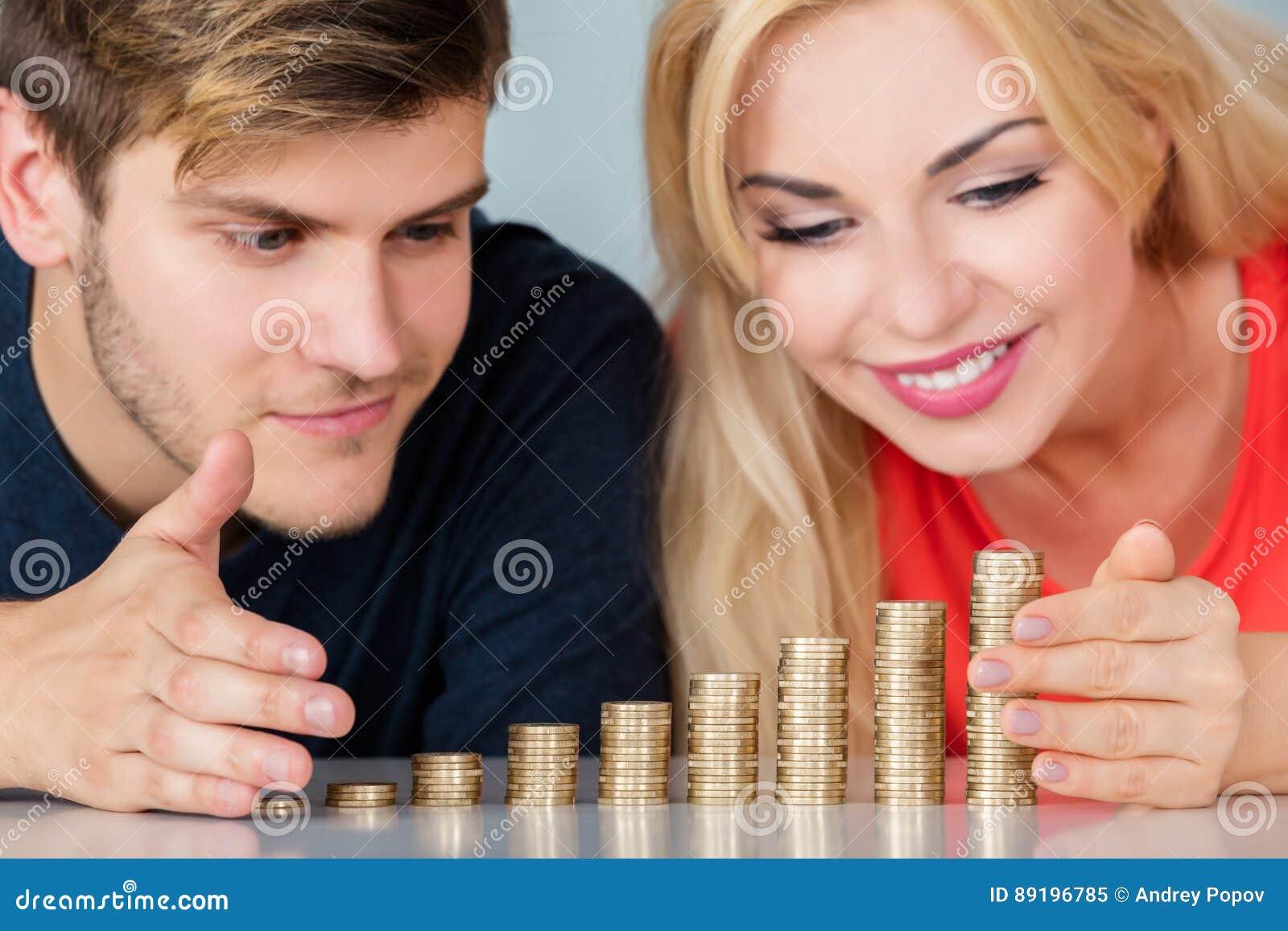 Pila del ahorro de los pares de monedas