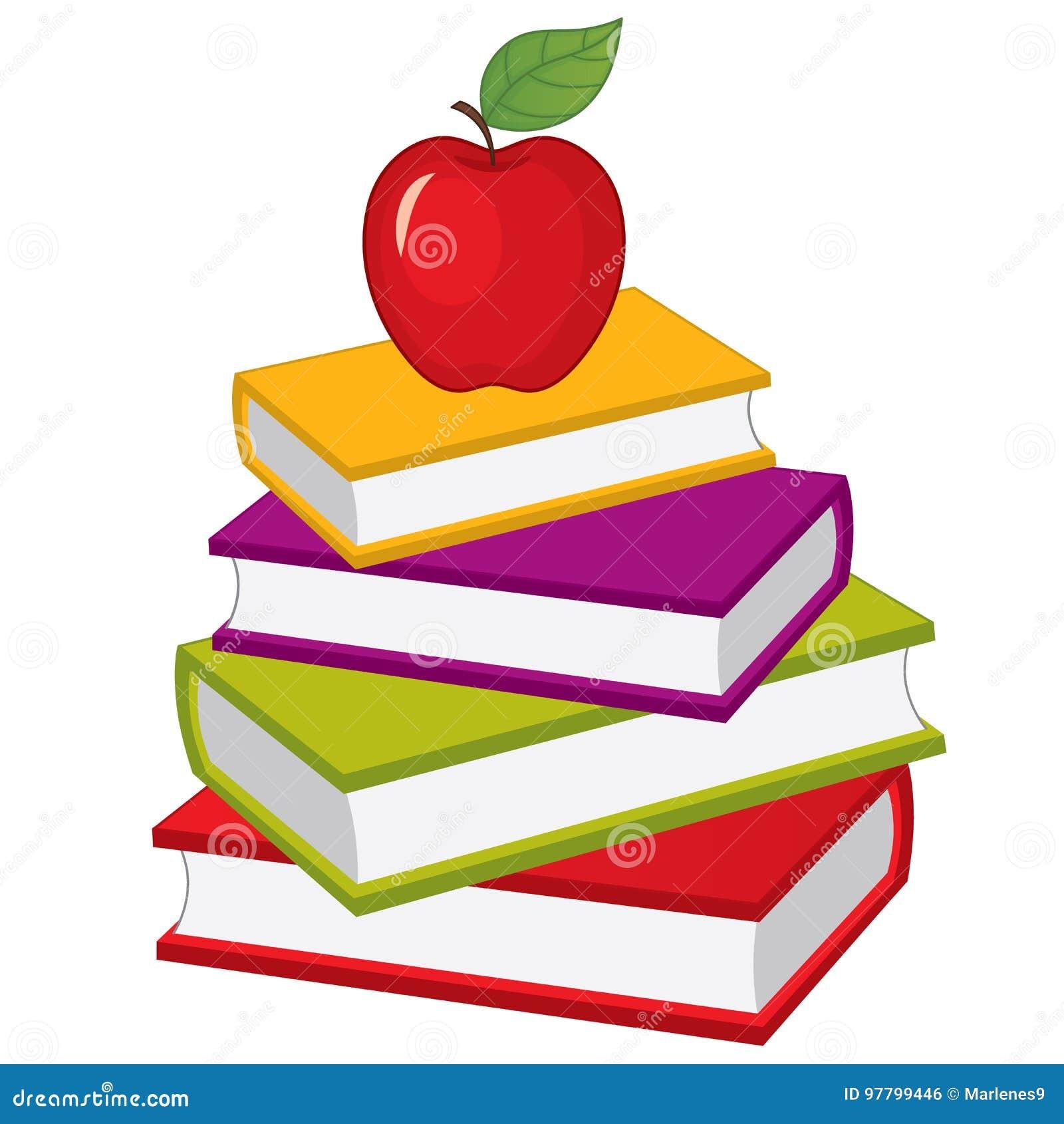 Pila del vector de libros Pila del vector de libros
