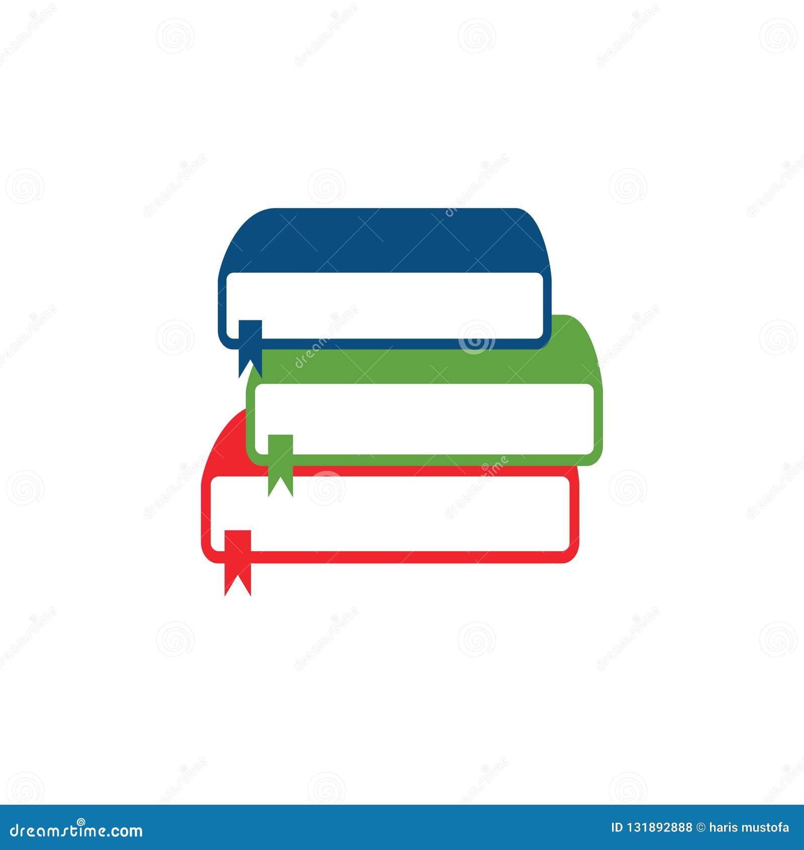 Pila del vector de los libros