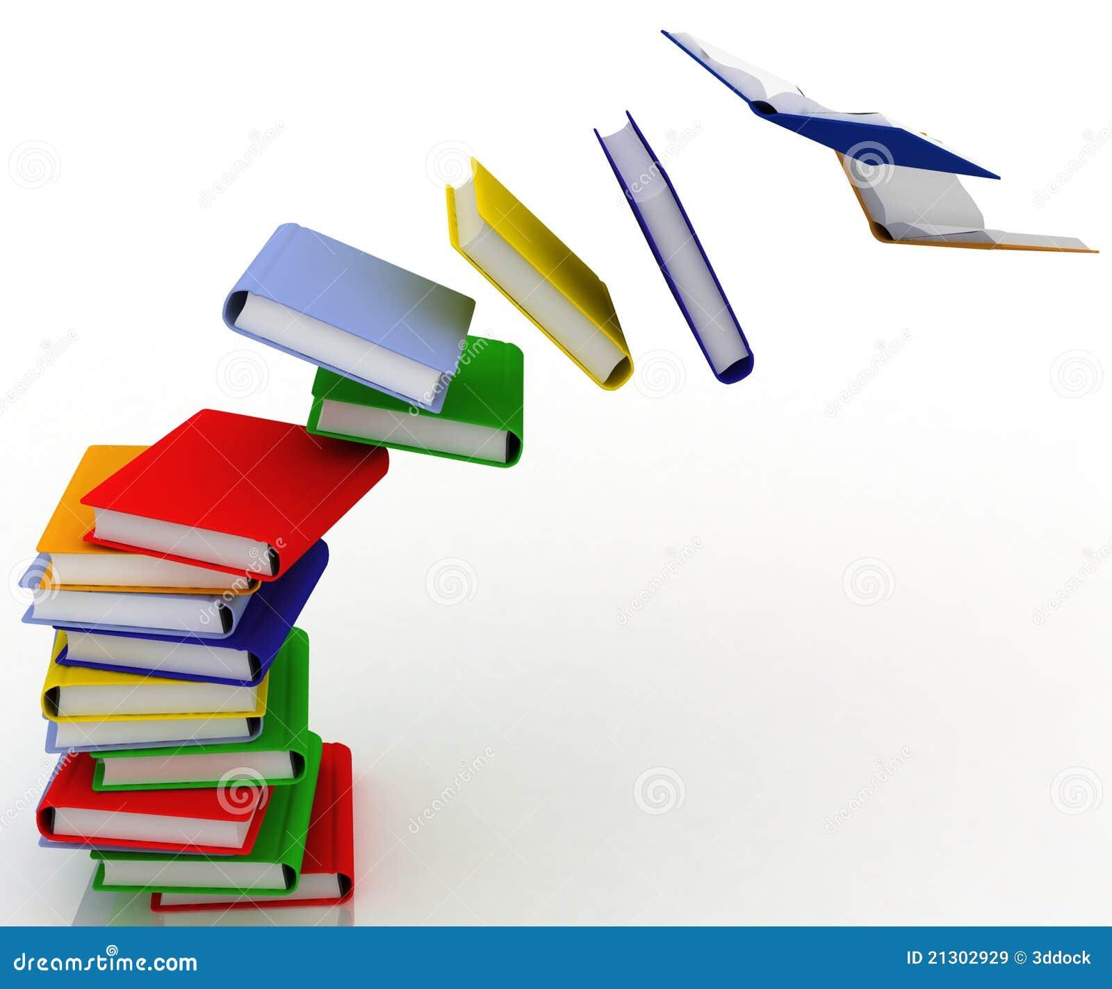 Pila destruida de libros