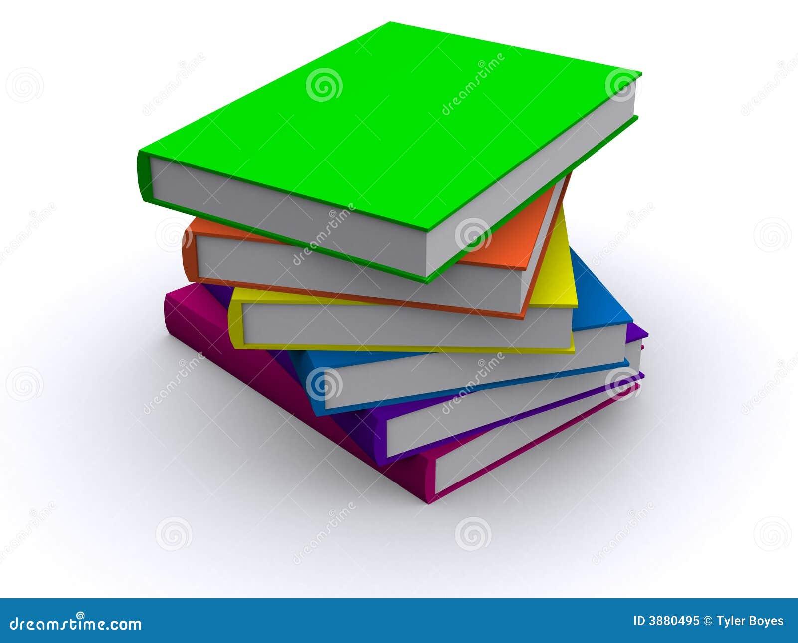 Pila di libri 3d