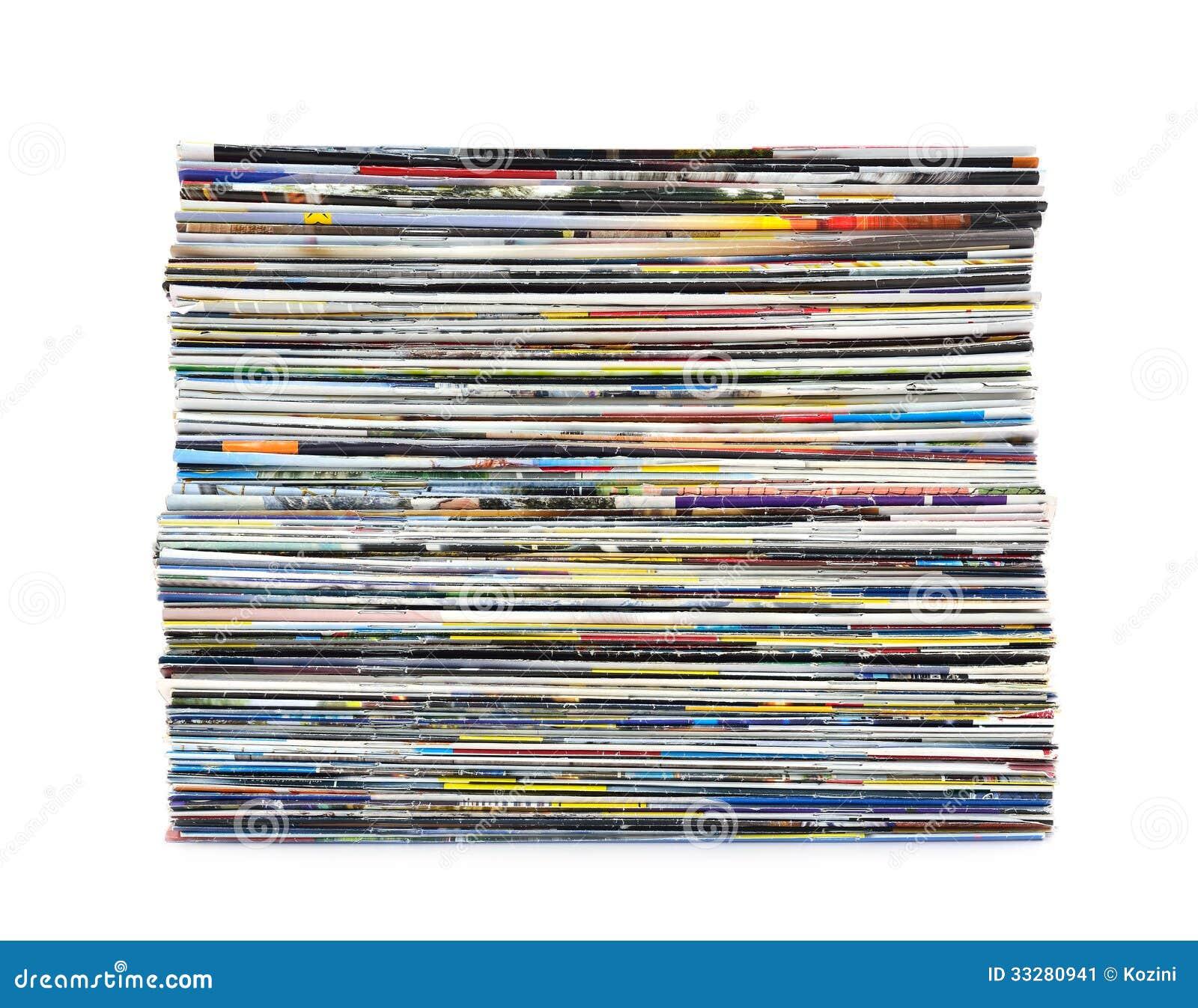 pila di riviste variopinte immagine stock immagine di