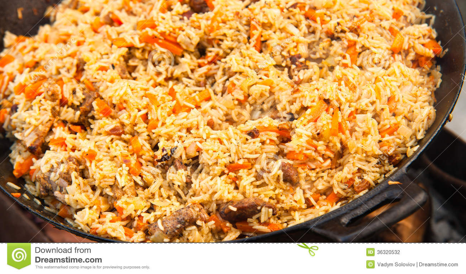 Pilaf (Plov) - Afghan, Uzbek, Tajik National Cuisine Main Dish Stock ...