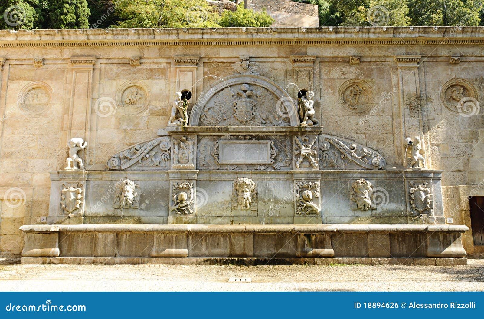 electrical plan switch symbol electrical plan kitchen pilar de carlos v fountain in granada royalty free stock
