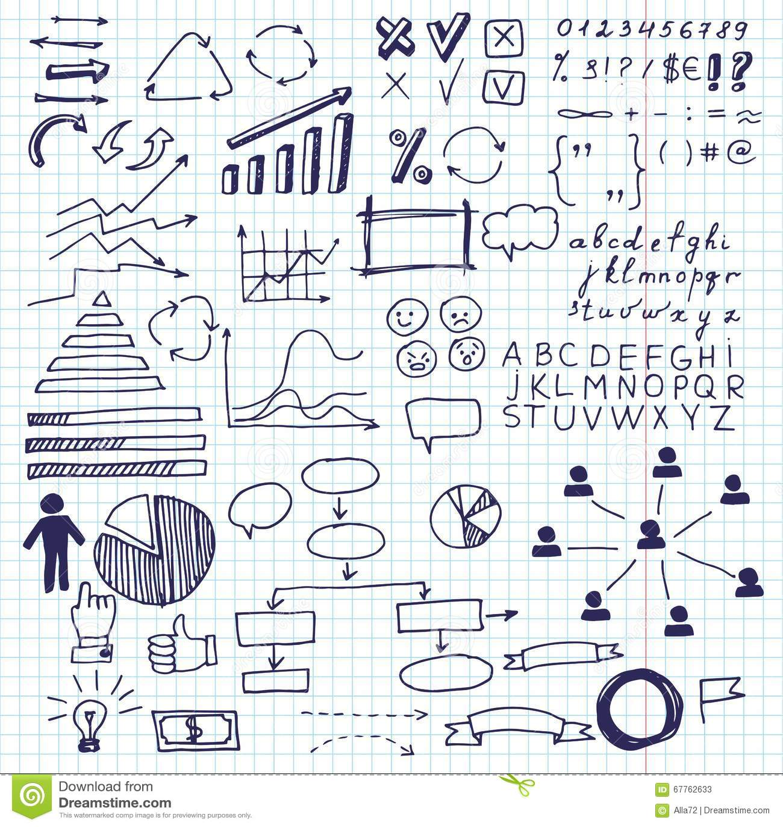 Pilar och affärsbeståndsdelar, informationsdiagram Uppsättning av beståndsdelar för diagram för information om klotteraffärsdiagr