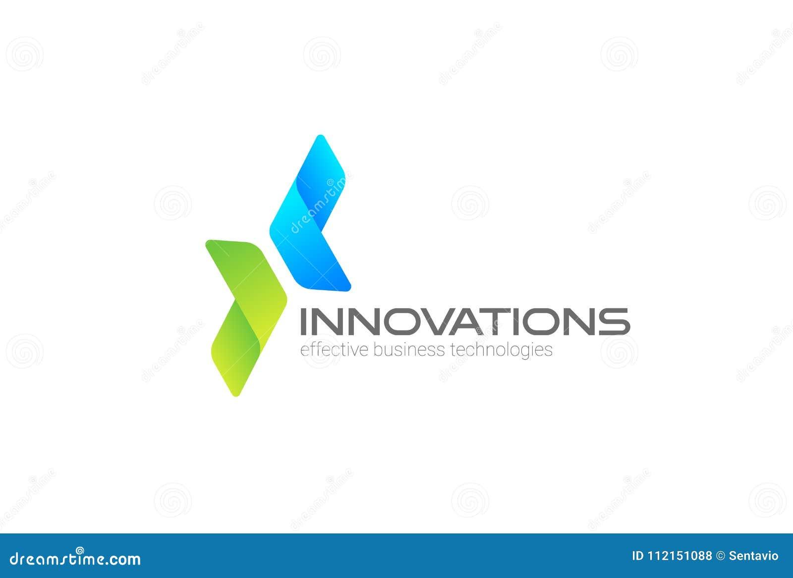 Pilar två riktningar som fokuseras på företags, investerar mallen för vektorn för affärslogodesignen För logotypbegrepp för finan
