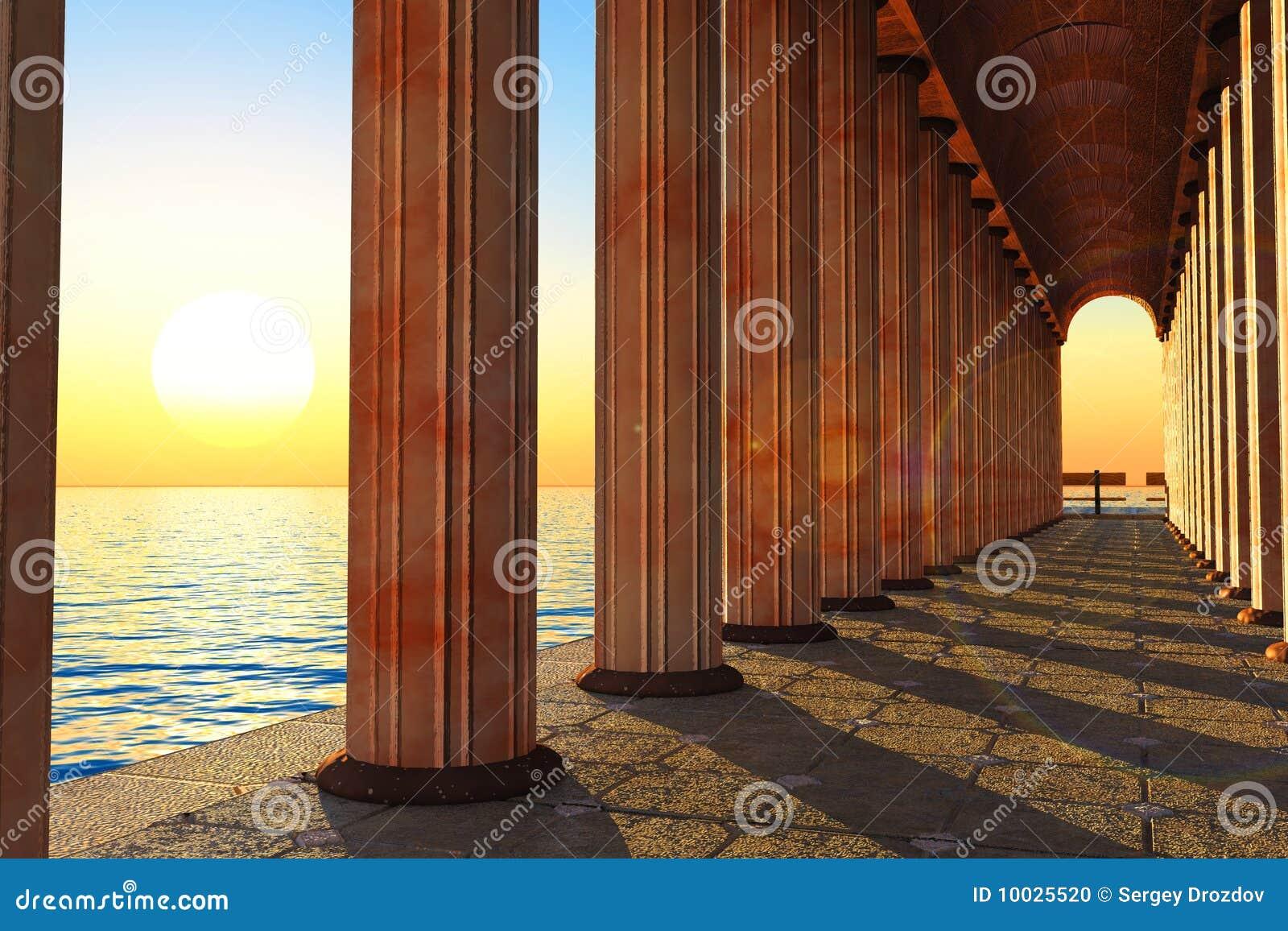 Pilares y mar