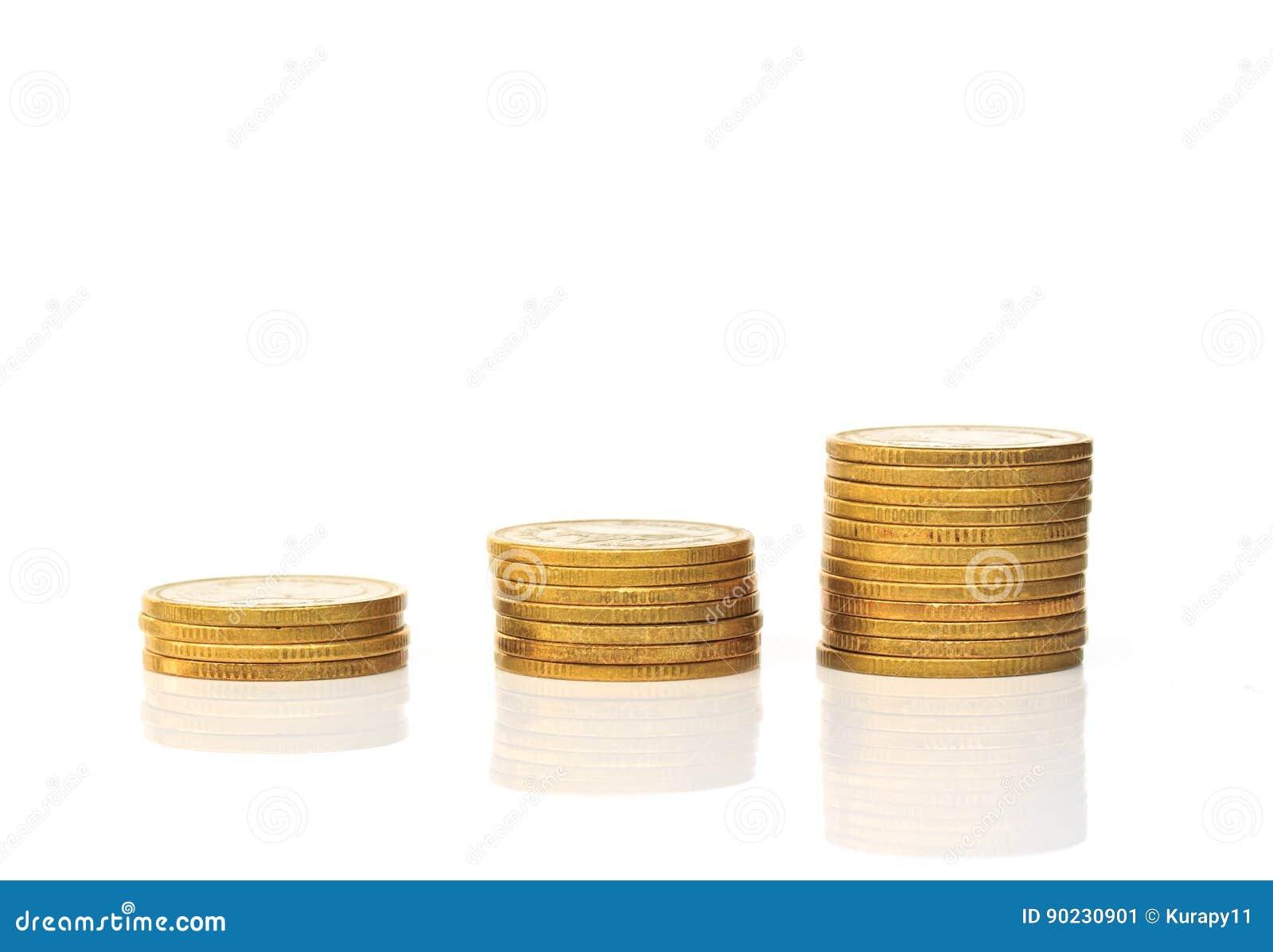 Pilas de la moneda