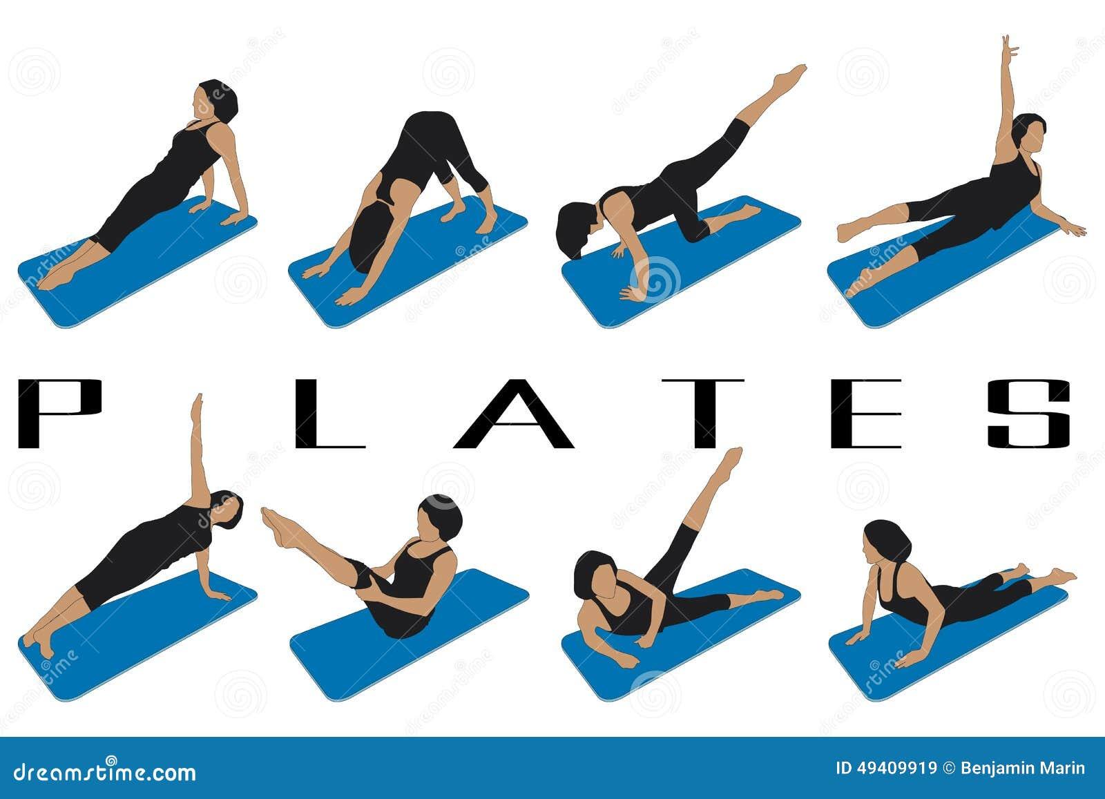 Download Pilates vektor abbildung. Illustration von sport, schattenbilder - 49409919