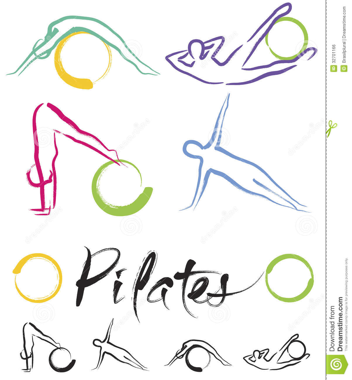 Pilates Class – Color Vector Royalty Free Stock Image - Image ...