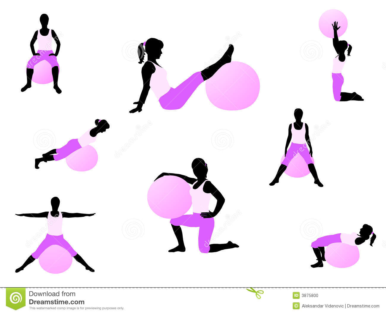 Pilates Exercise Stock Vector Illustration Of People