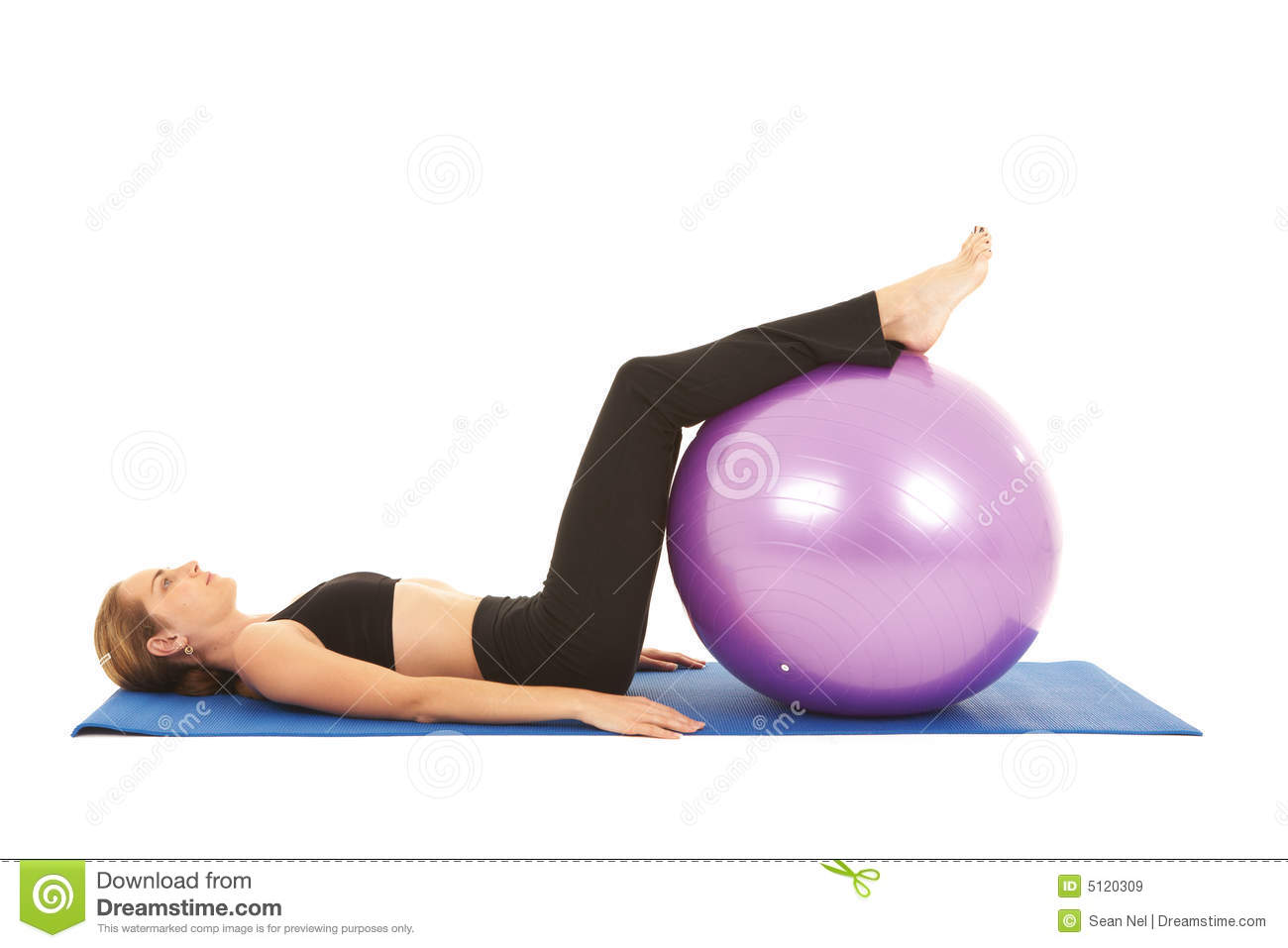 Pilates exercise series royalty free stock images image for Floor ab workouts