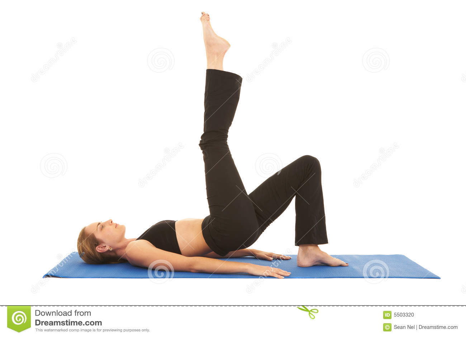 Pilates Exercise Series Stock Photo Image 5503320