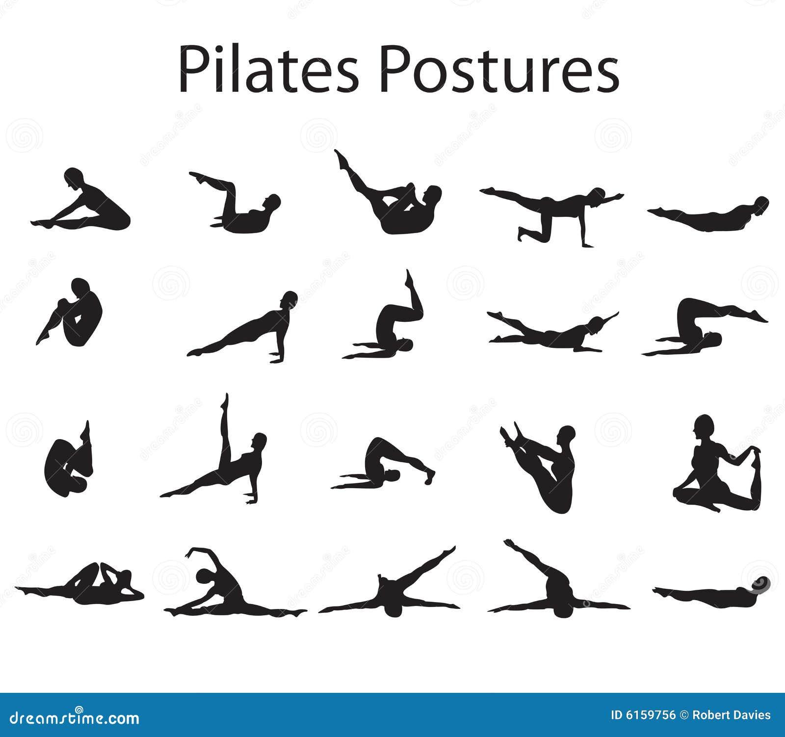 Pilates Postures posiciones