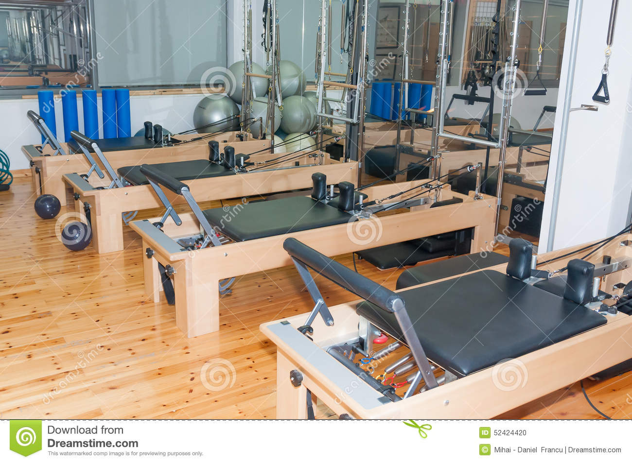 Pilates room stock photo. Image of building, sports, room - 52422682