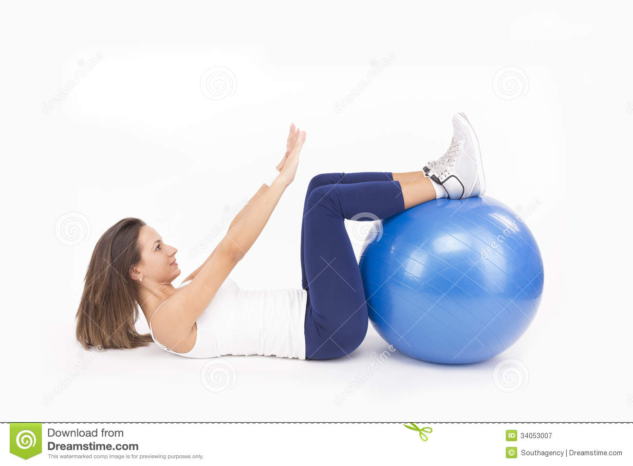 how to do sit ups on a ball