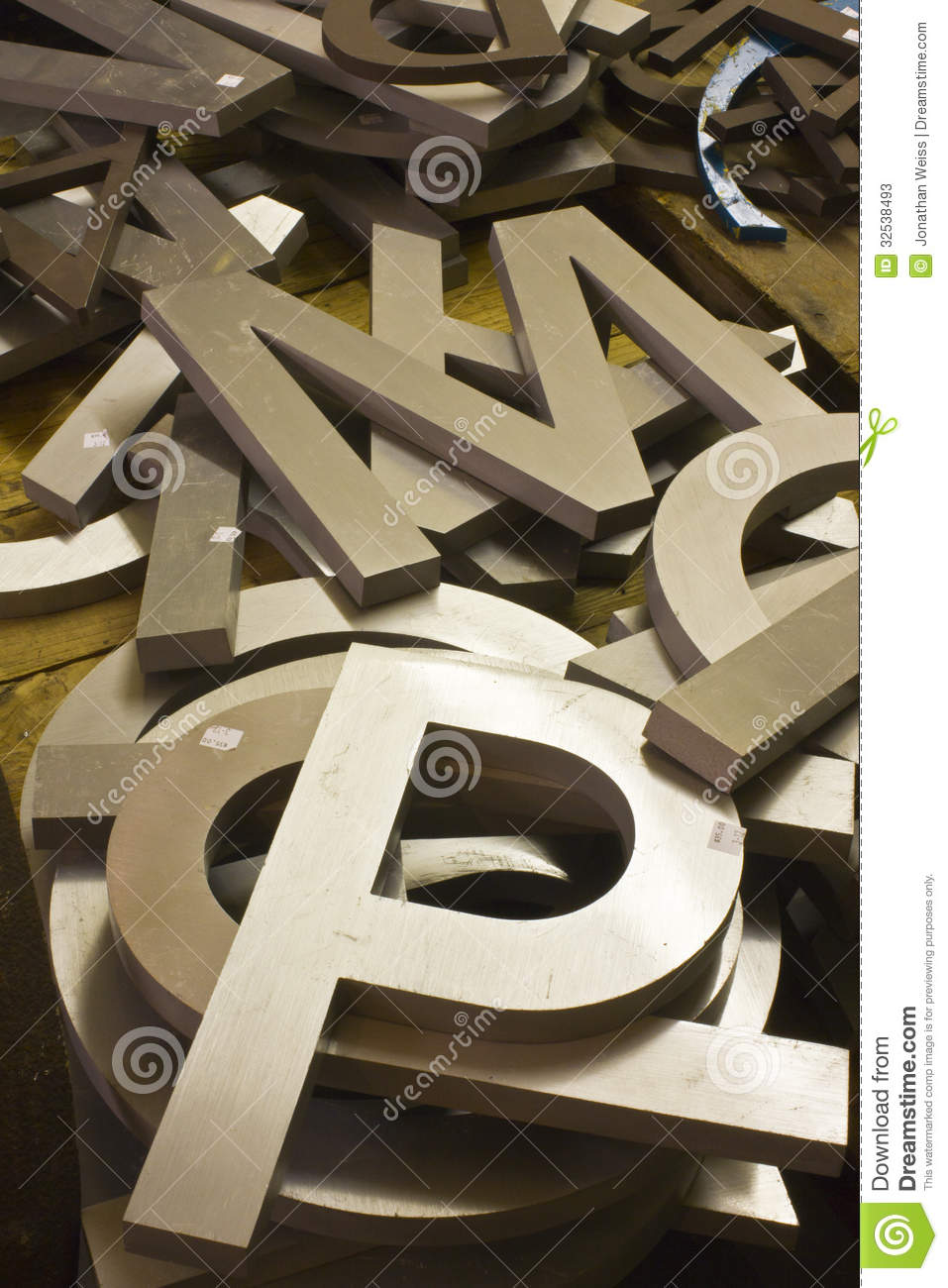 Steel Letters For Sale A Pile Of Alphabet Letters For Sale Stock Image  Image 32538493