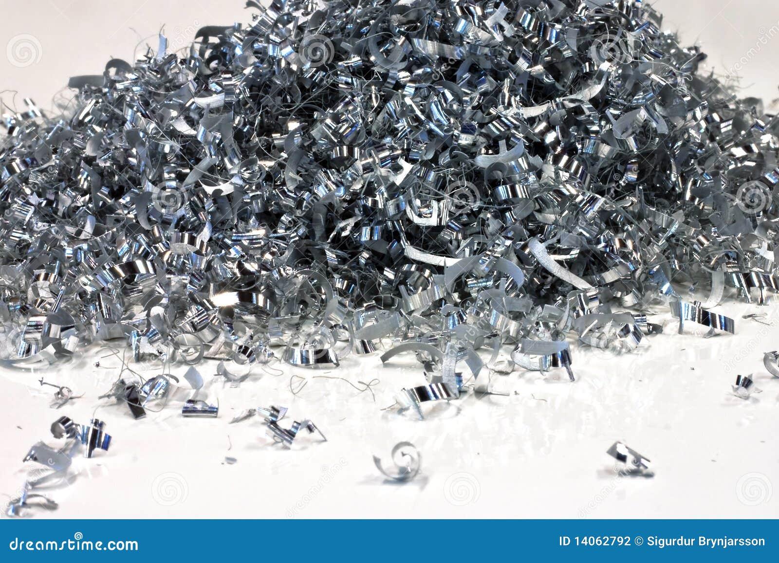 Pile of aluminium shavings