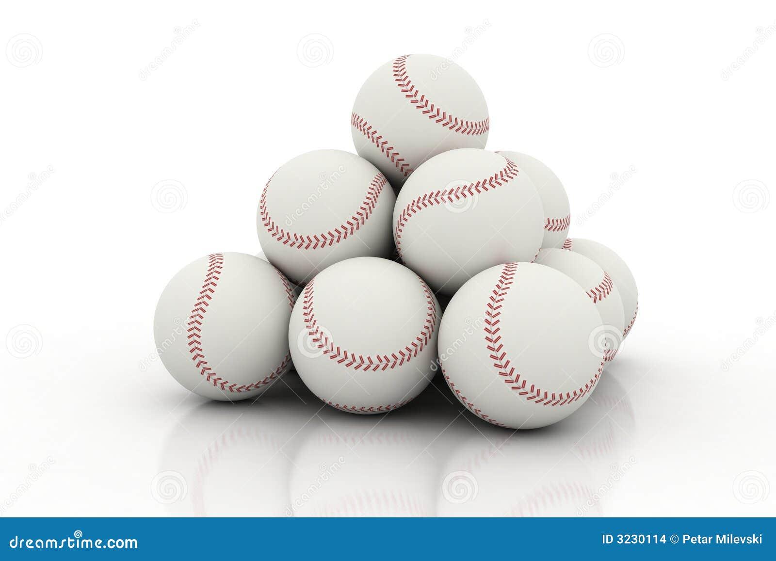Pile Of Baseball Balls Stock Images - Image: 3230114