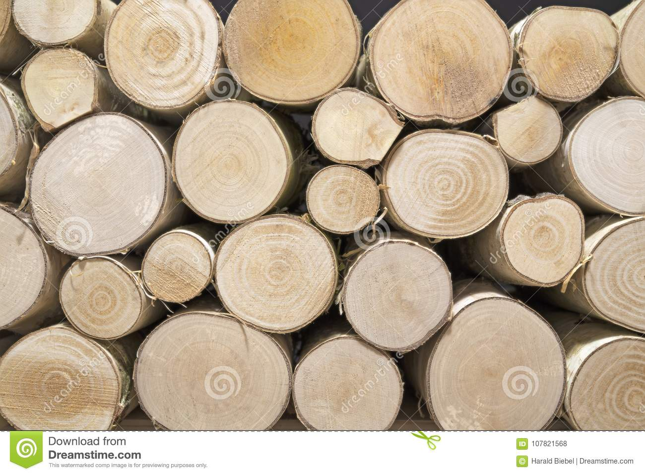 Pile of birch wood can be used as background stock photo for Birch wood cost