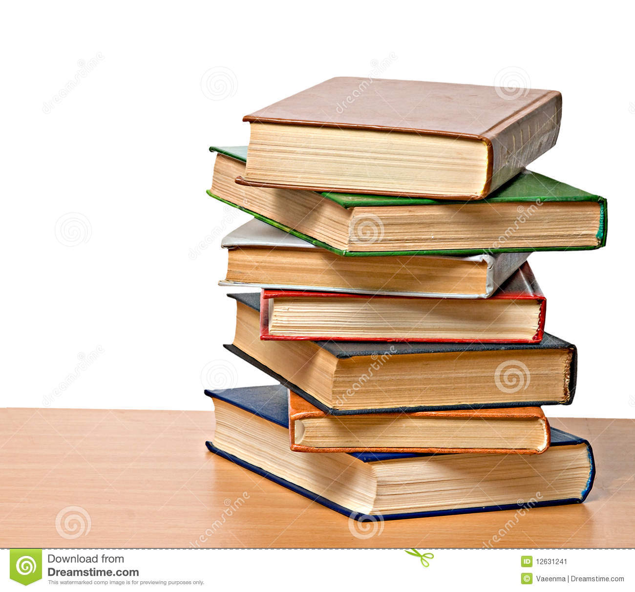 Pile Of Books Stock Image - Image: 12631241