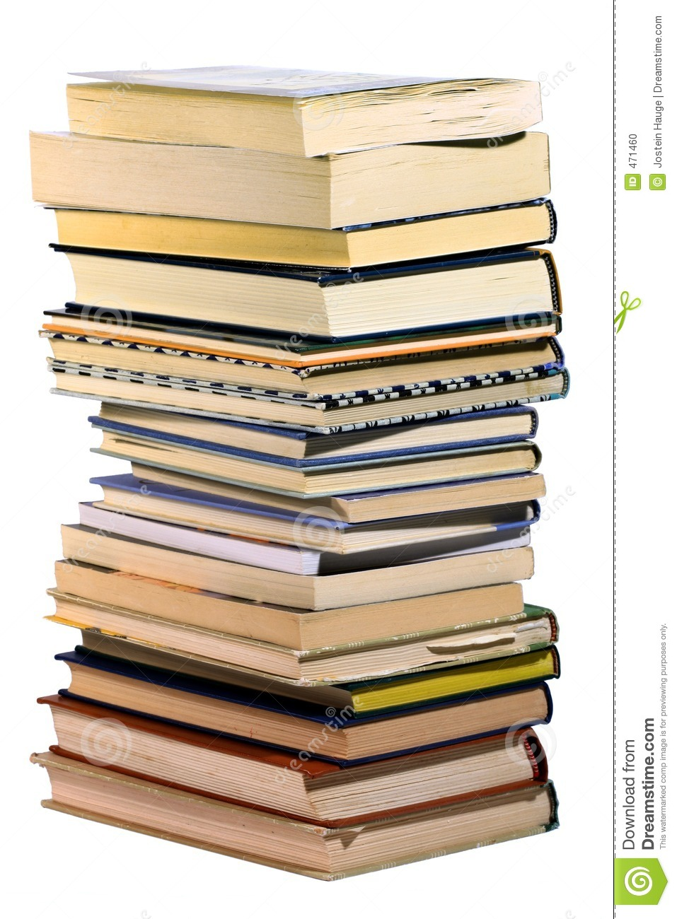 pile books isolated dreamstime