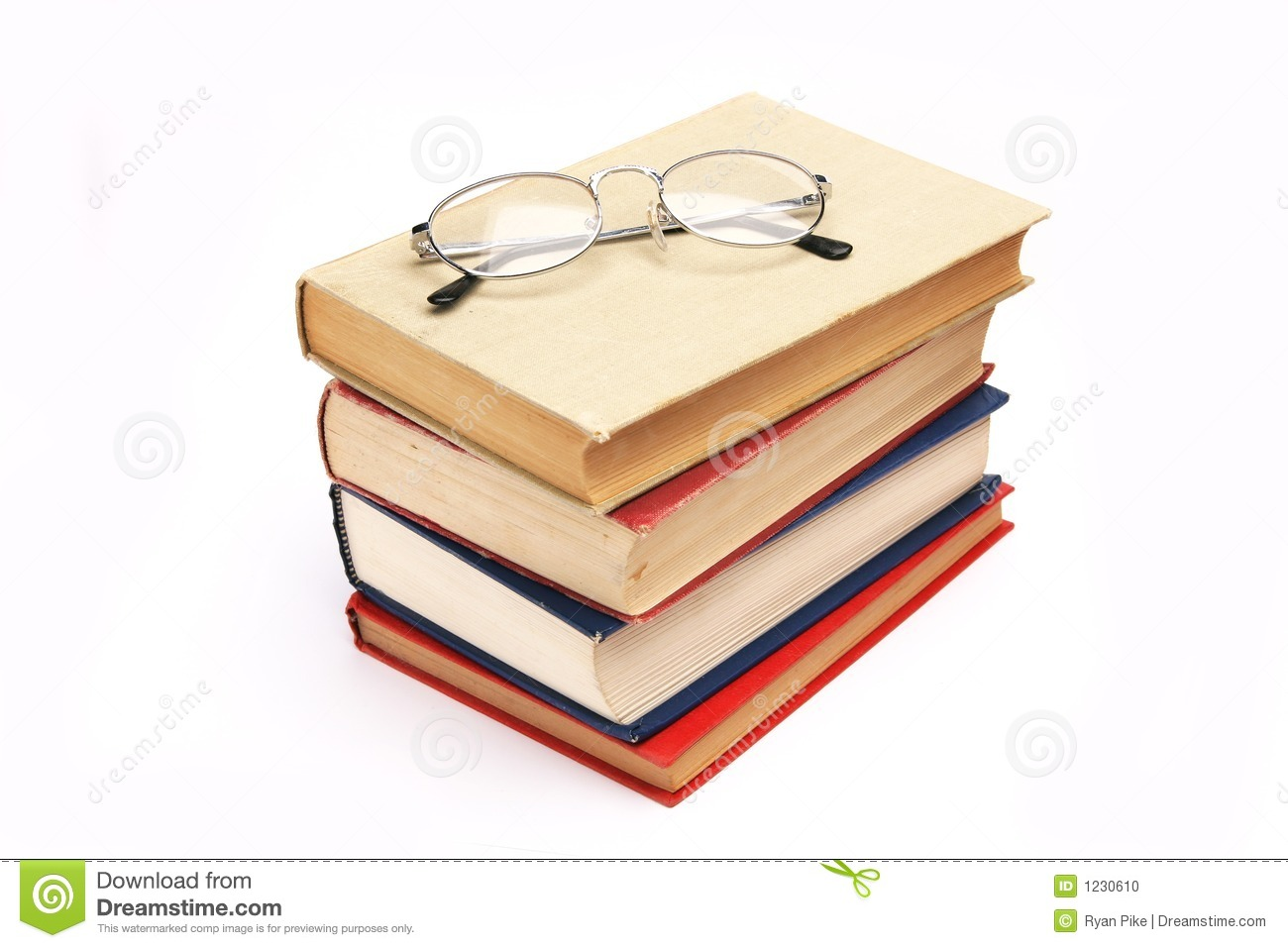 glasses on book - photo #38
