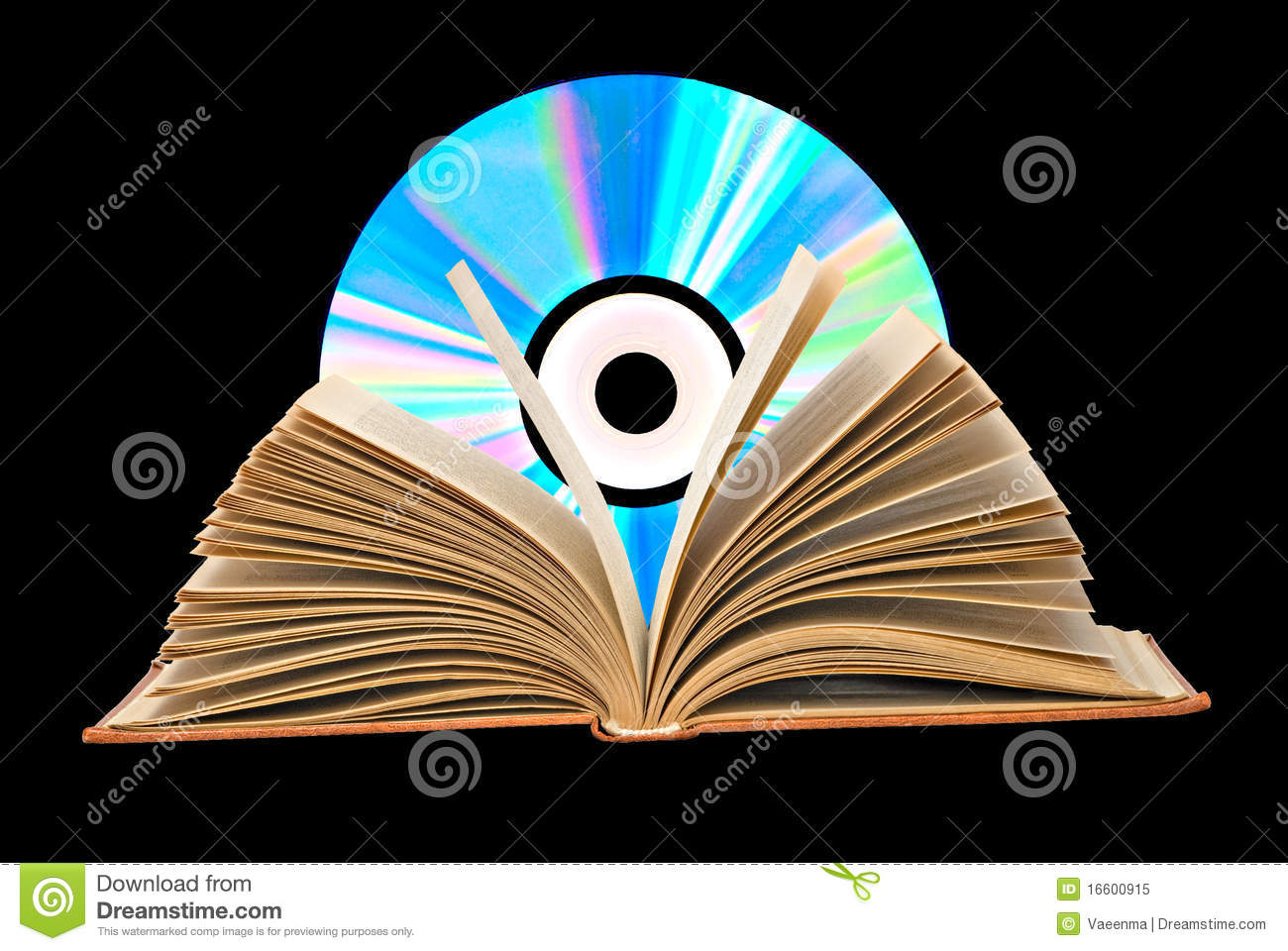 Pile Of Books Open Book And Dvd Stock Image Image Of Reliable