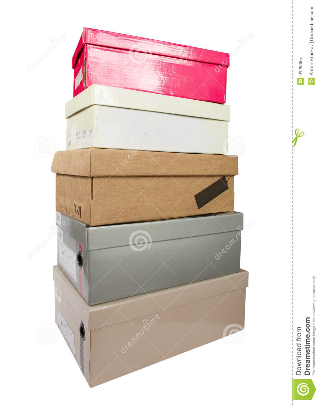 Pile of boxes royalty free stock photo image