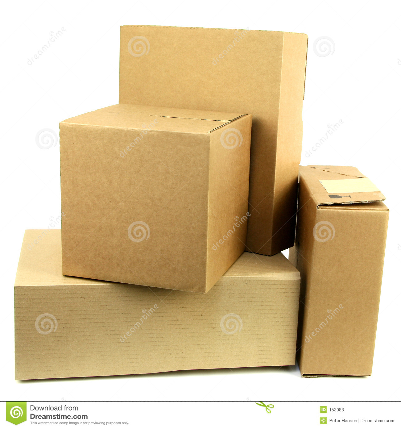 Pile of boxes iii stock photo image card pack fedex
