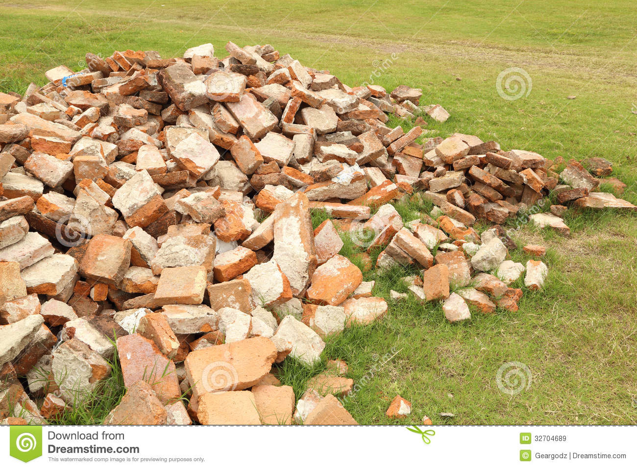 Pile Of Brick Wall Royalty Free Stock Images - Image: 32704689