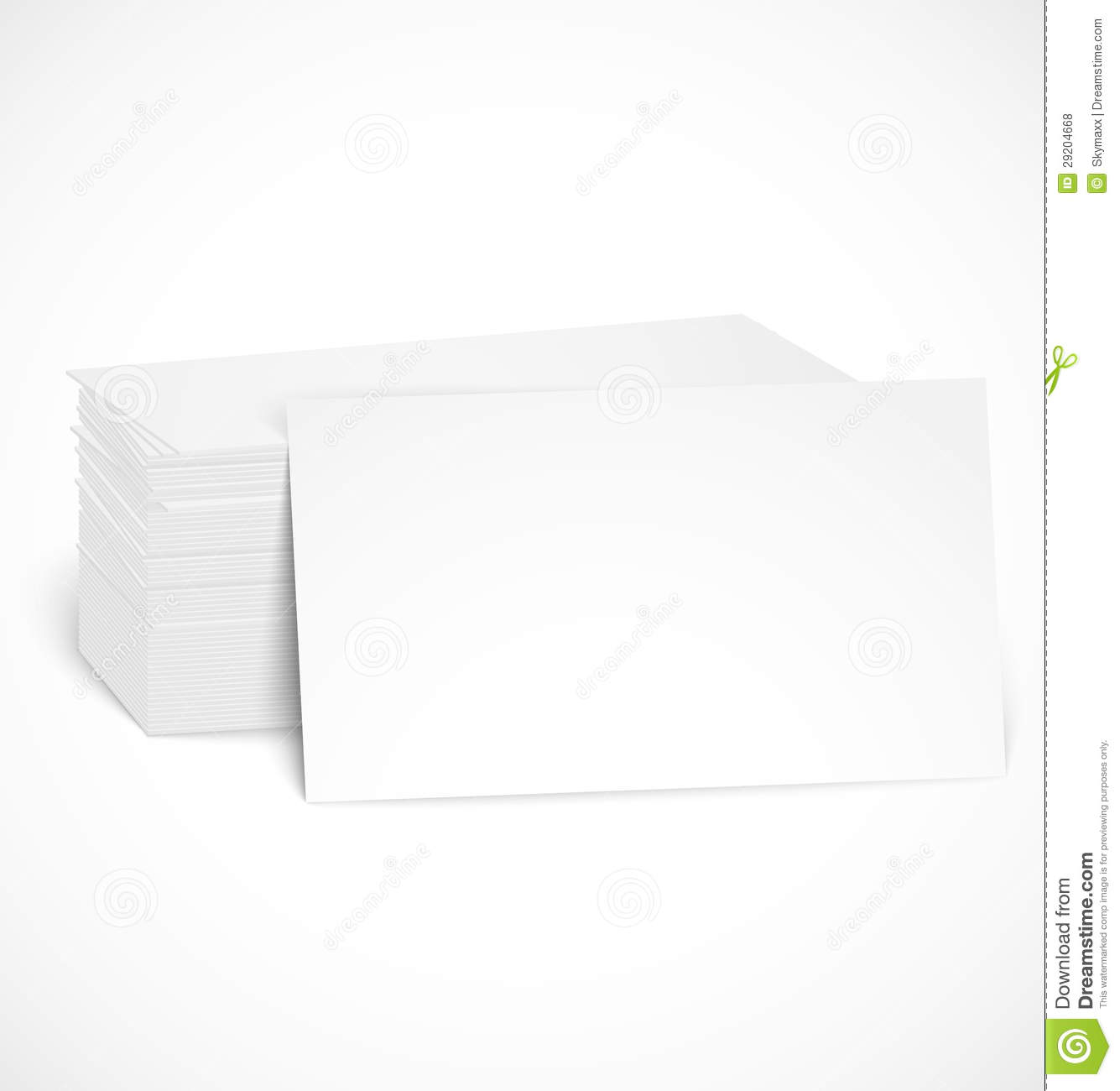Pile Of Business Cards With Shadow Template Stock Vector ...