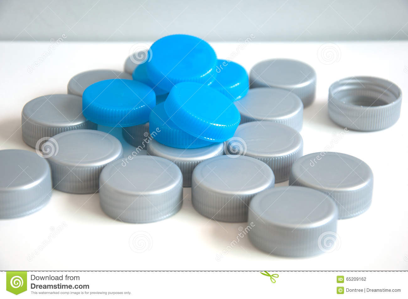Pile of cap bottle stock photo  Image of cover