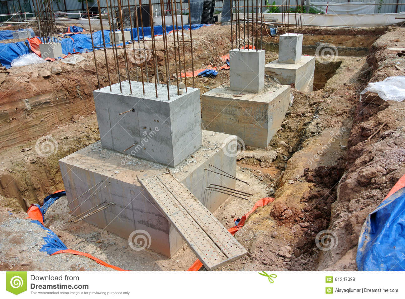 Pile cap is part of building substructure and foundation for Piling for house foundations