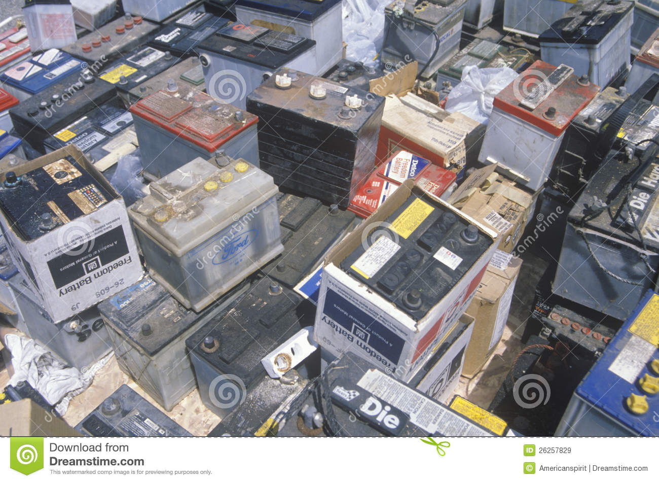 Car Battery Recycling >> A Pile Of Car Batteries Editorial Stock Image - Image: 26257829