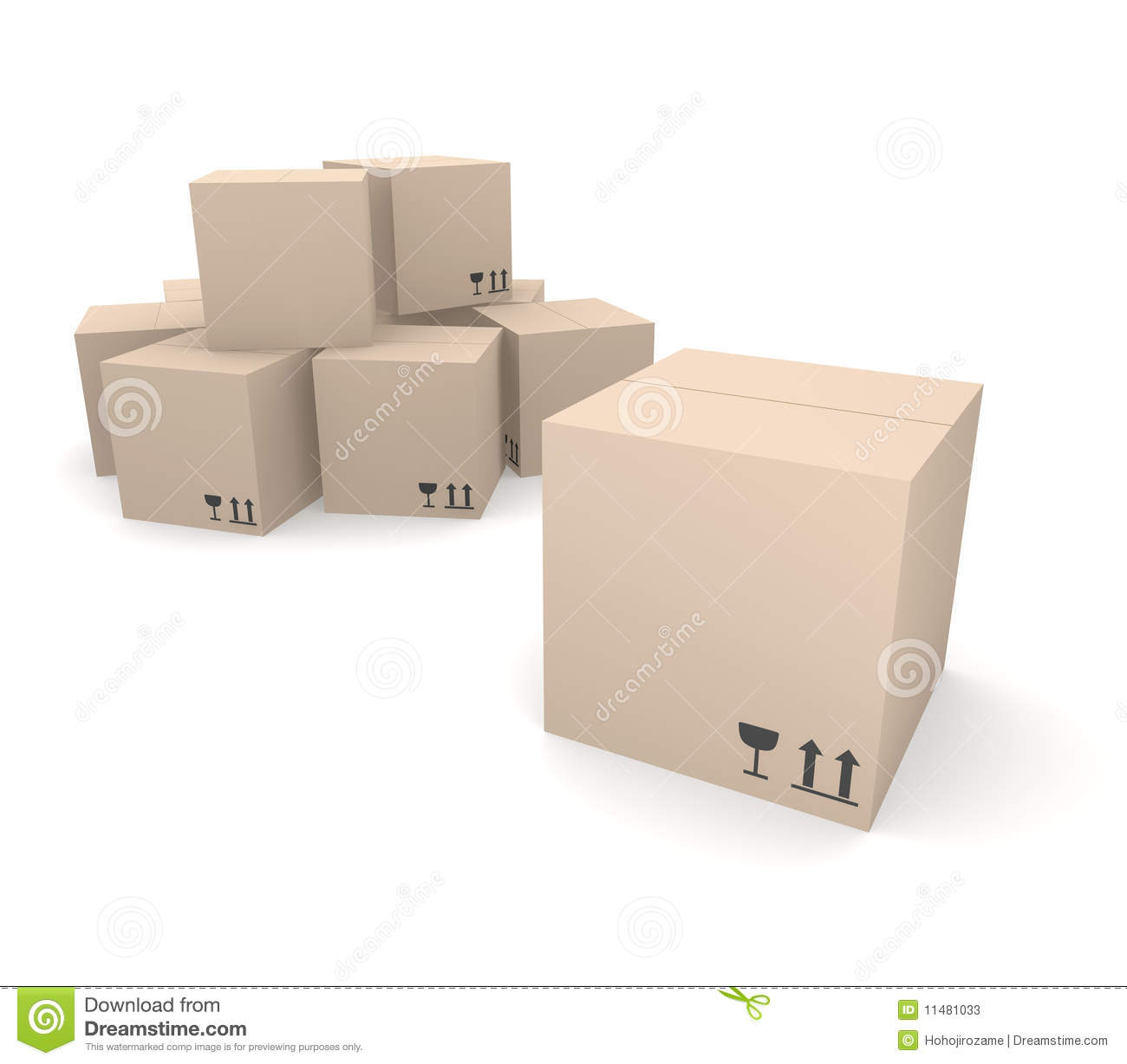 Pile of cardboard boxes stock photos image