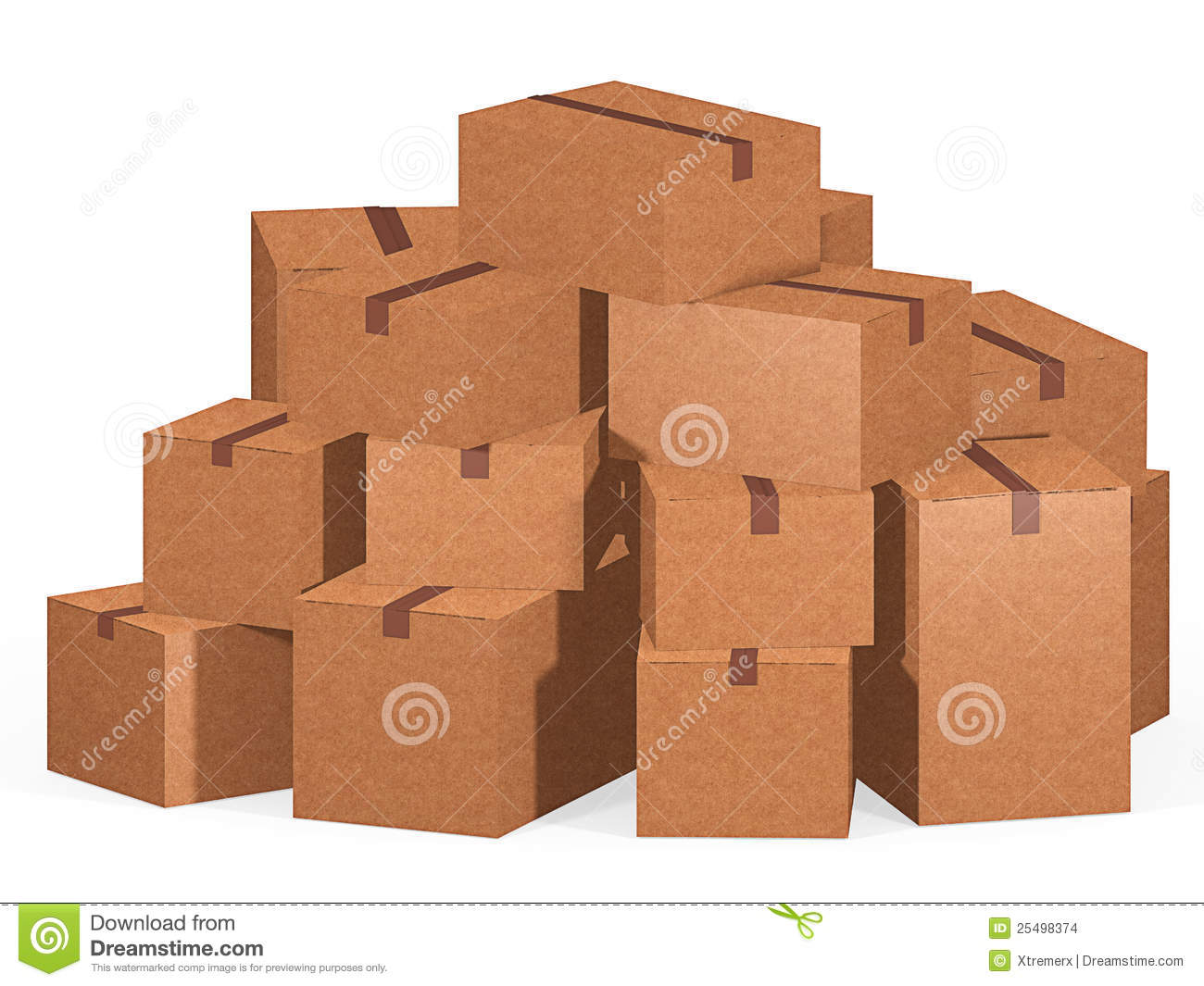 Pile of cardboard boxes stock images image