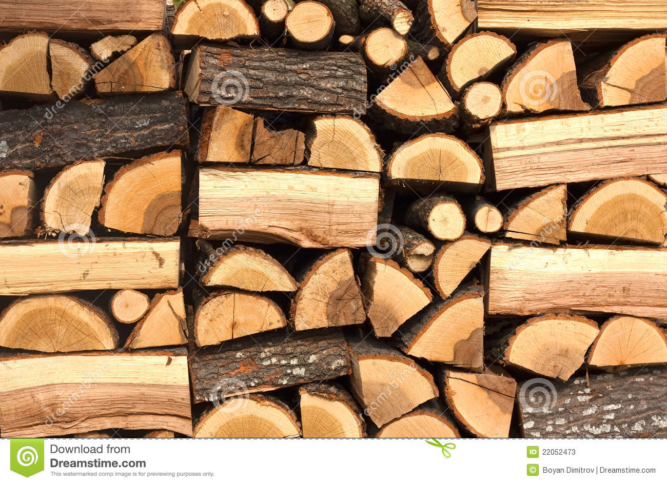 Pile Of Chopped Fire Wood Stock Photos Image 22052473