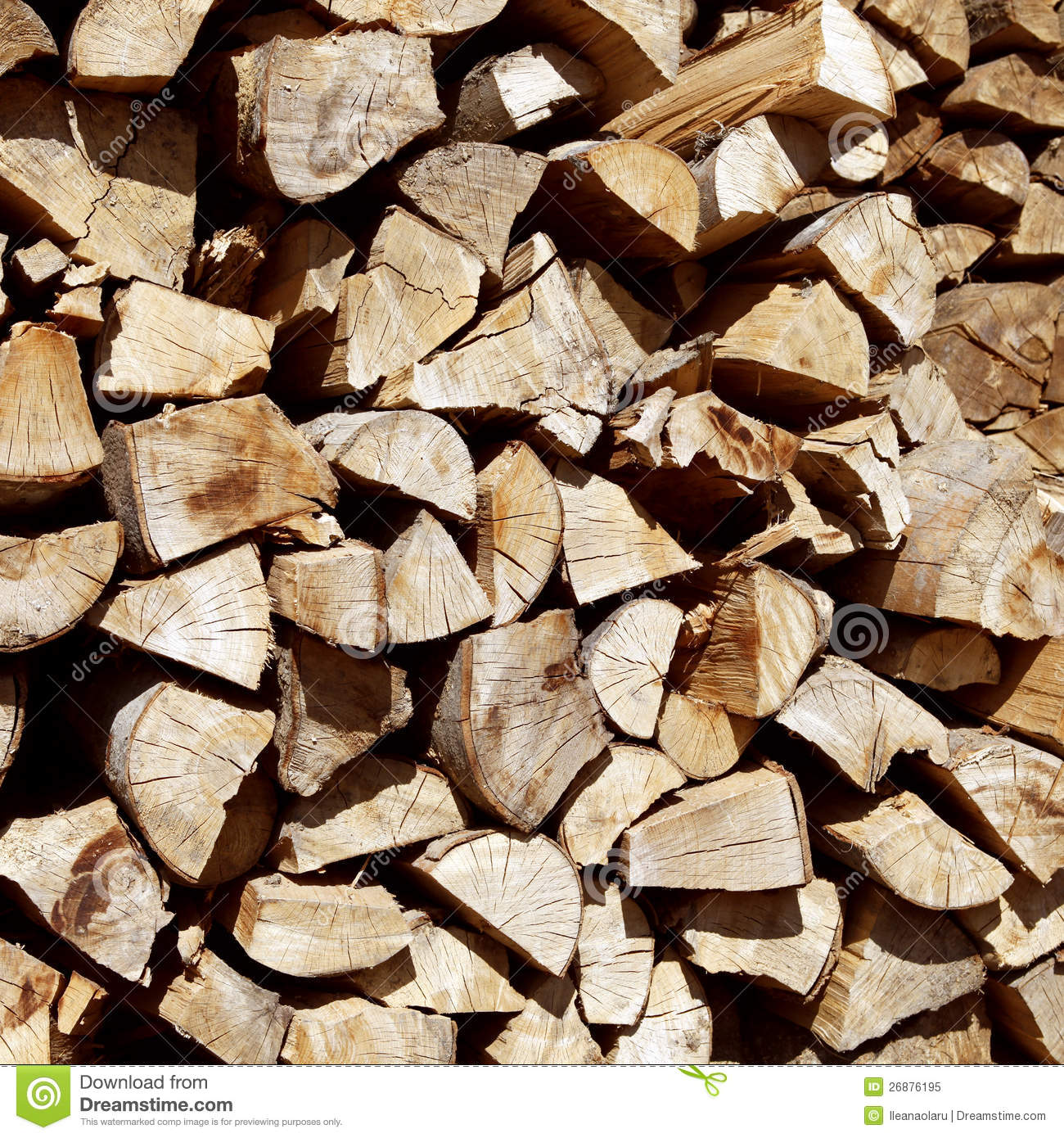 Pile Of Chopped Fire Wood Royalty Free Stock Photo Image